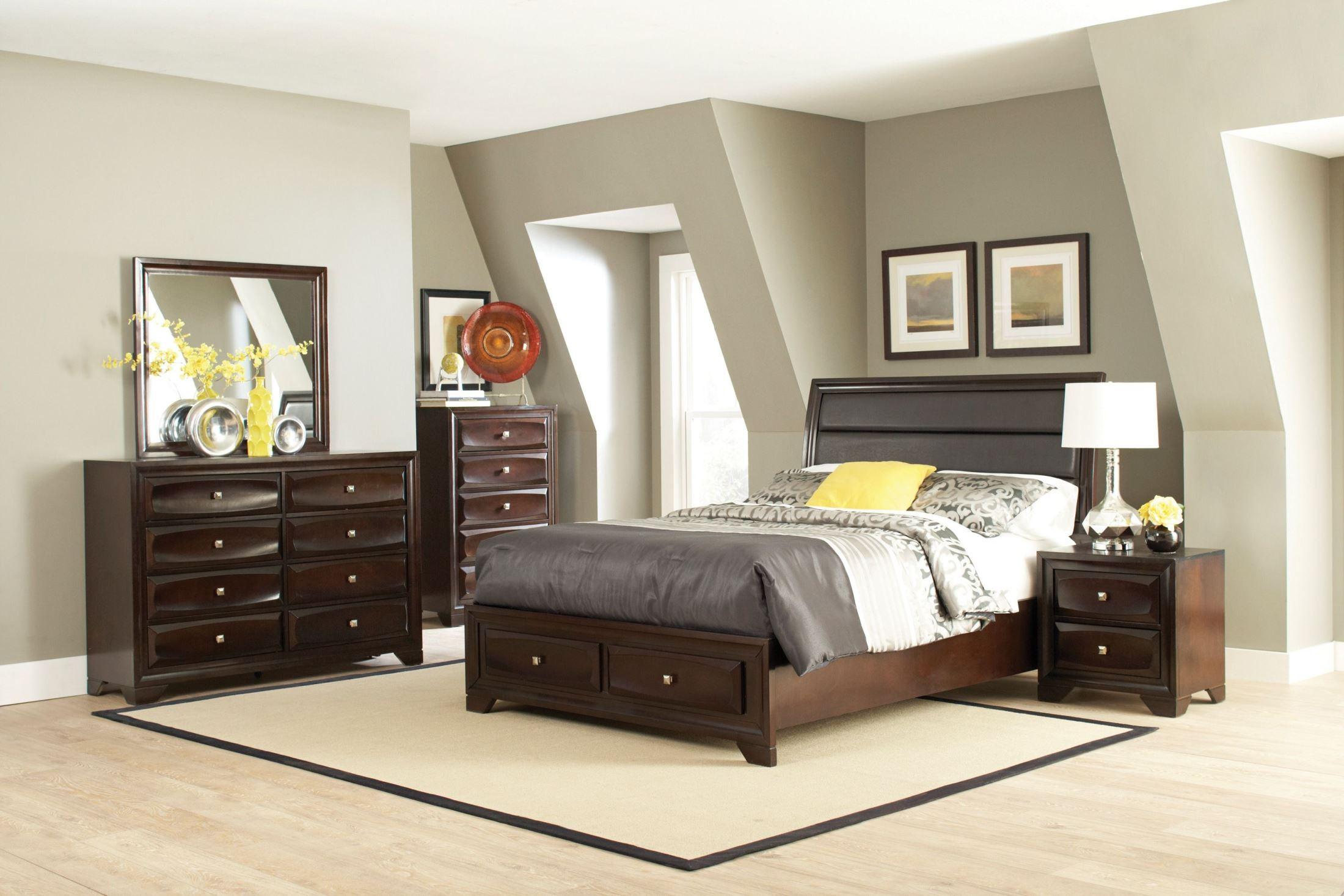 Jaxson storage platform bedroom set from coaster 203481q - Platform bedroom sets with storage ...