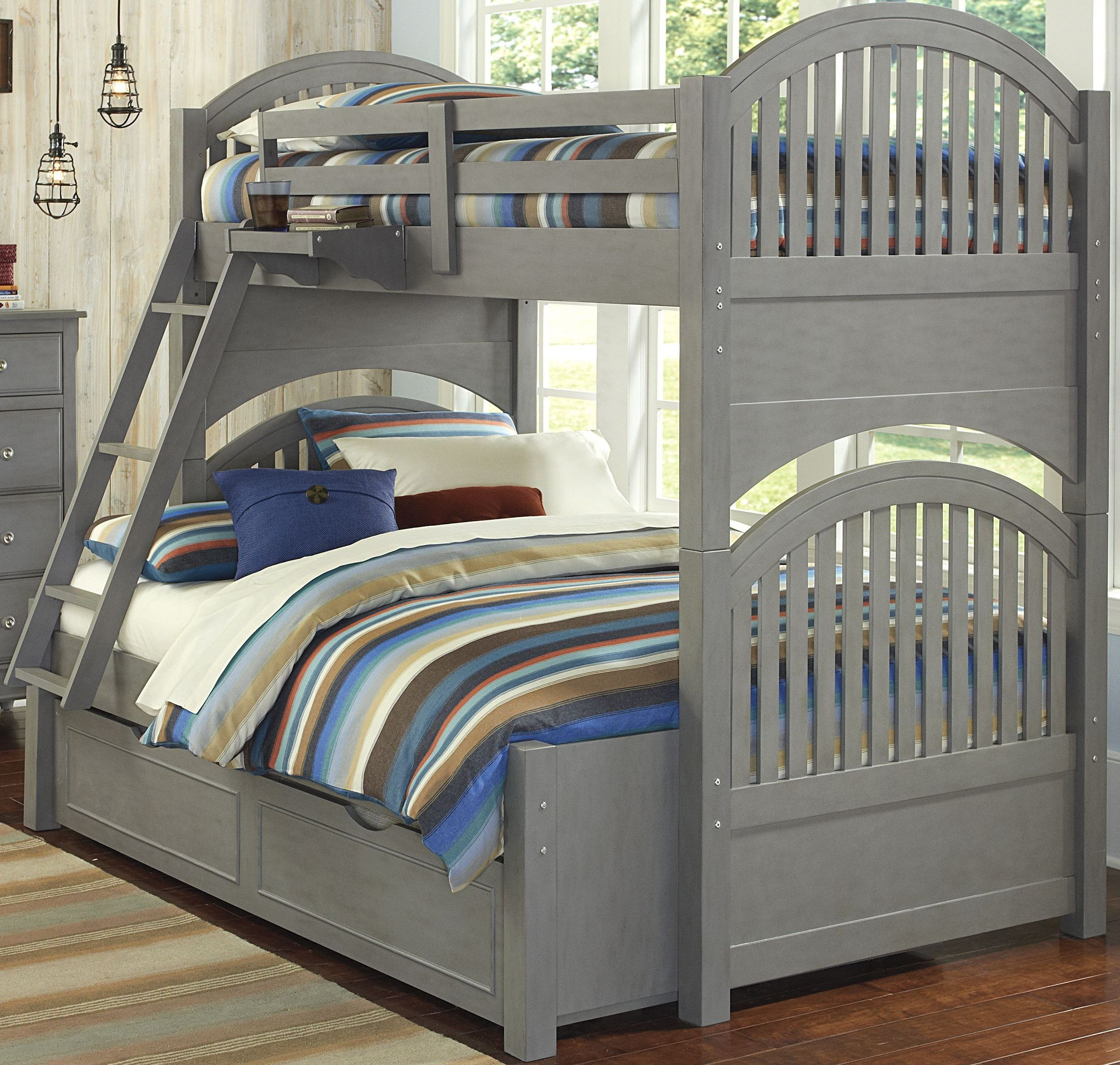 Lake House Stone Adrian Twin Over Full Bunk Bed With
