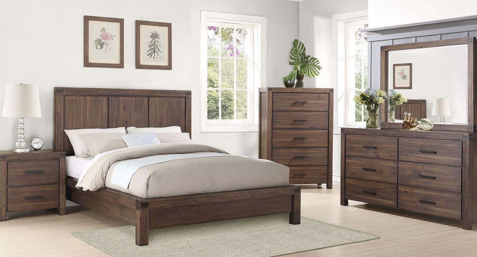 coaster bedroom sets lancashire wire brushed cinnamon bedroom set from coaster 11149