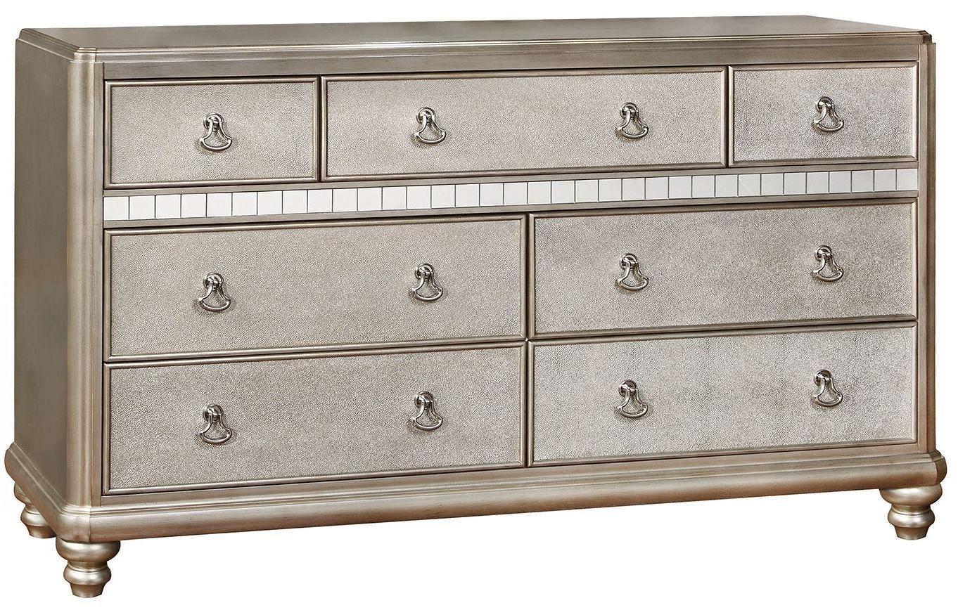 Bling Game Metallic Platinum Dresser From Coaster 204183 Coleman Furniture