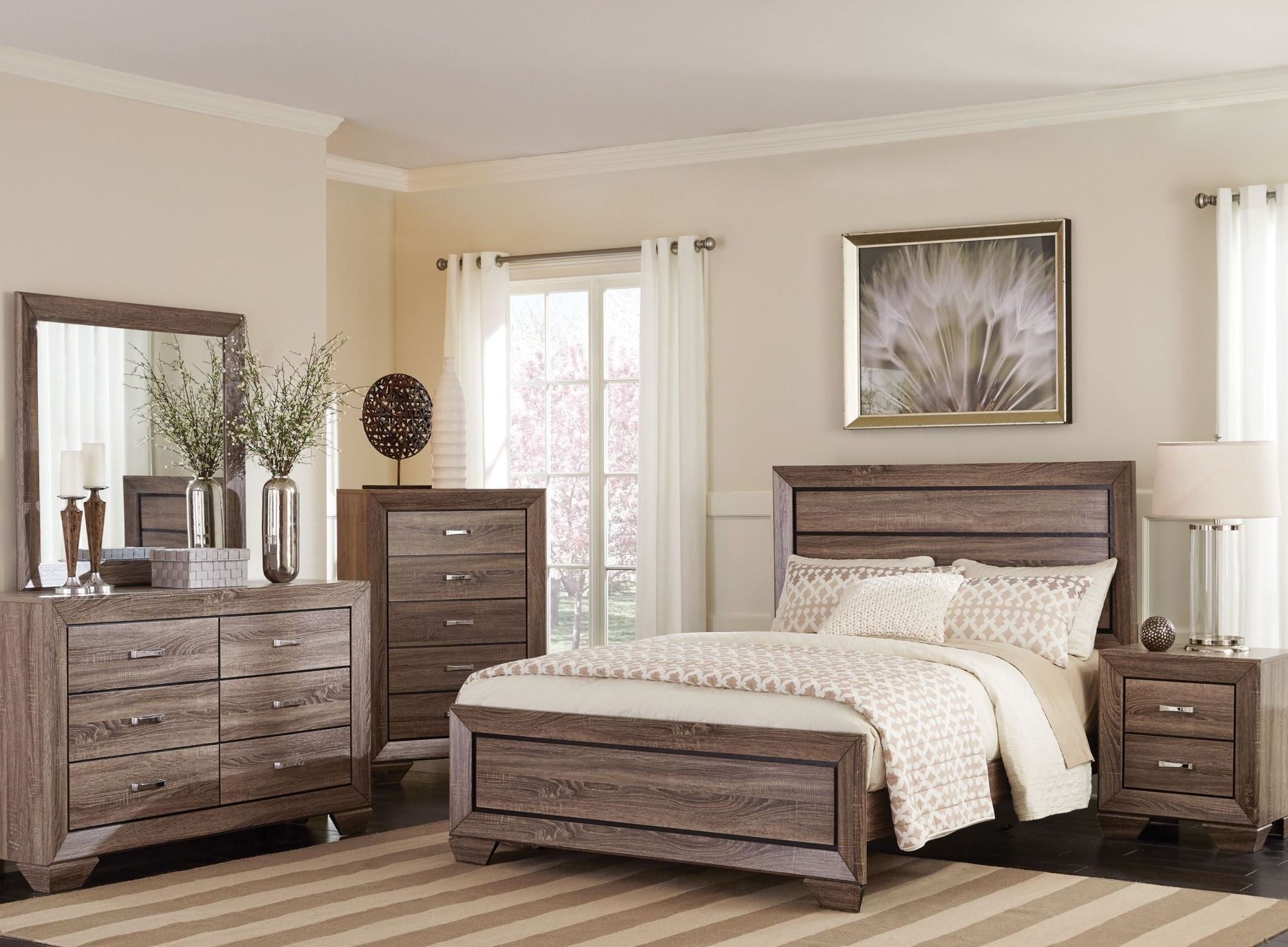 coaster bedroom sets kauffman washed taupe panel bedroom set from coaster 11149