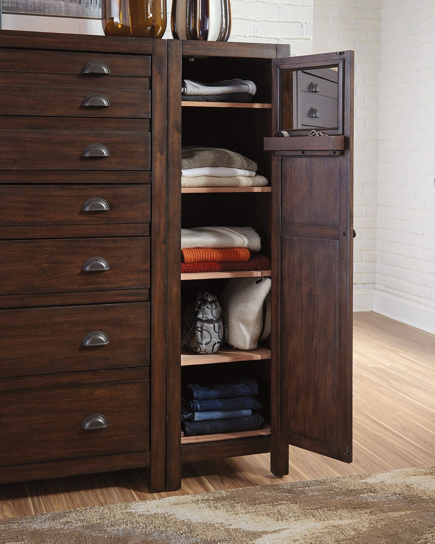 Lanchester cocoa right side wardrobe cabinet by donny for Cocoa cabinets
