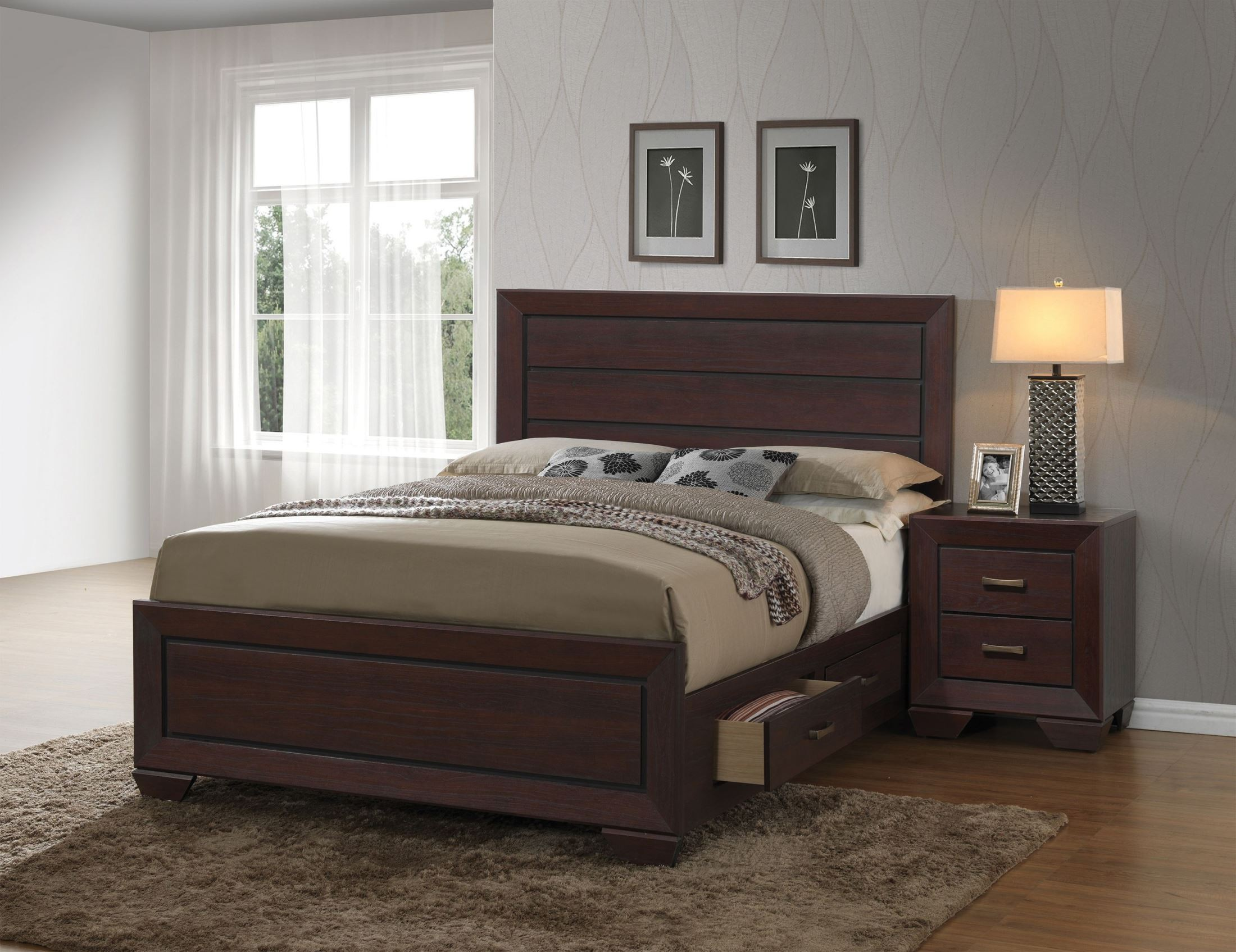 fenbrook dark cocoa panel bedroom set from coaster coleman furniture