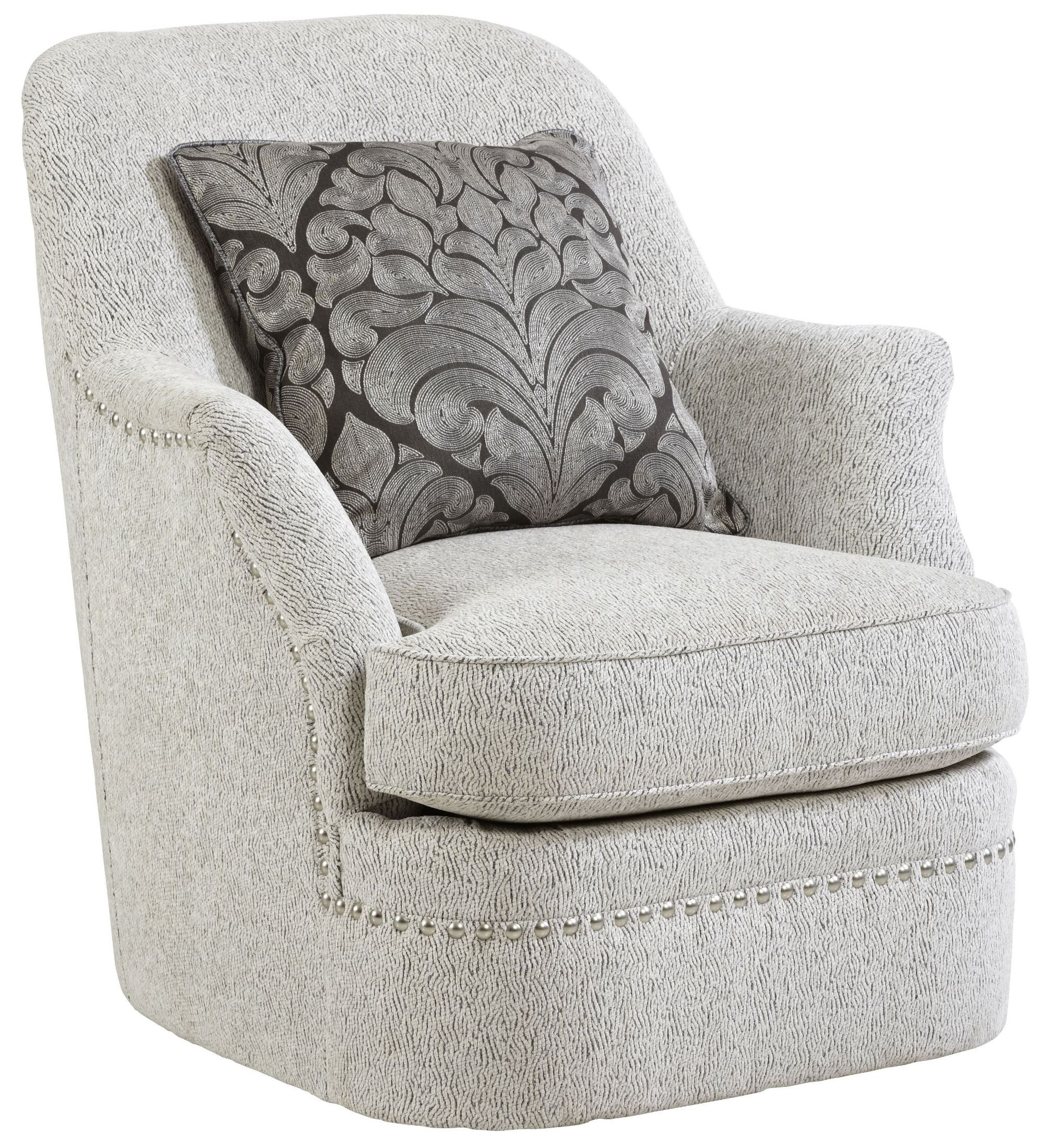 Amanda Sterling Swivel Chair From Art Coleman Furniture