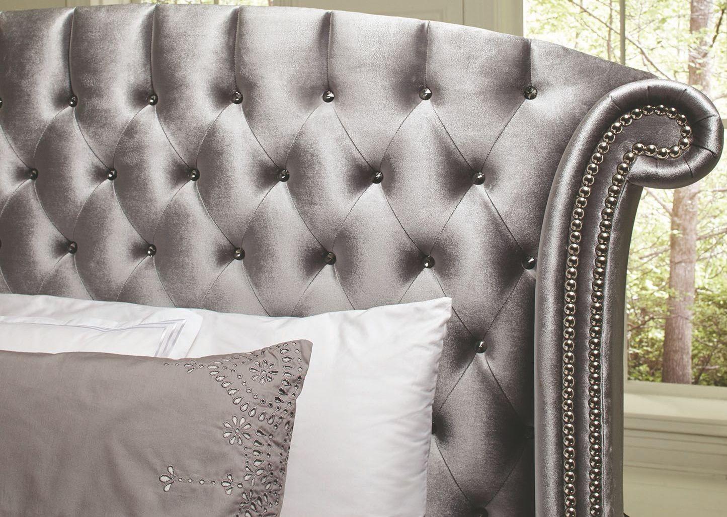 Deanna Grey Upholstered Platform Bedroom Set from Coaster ...