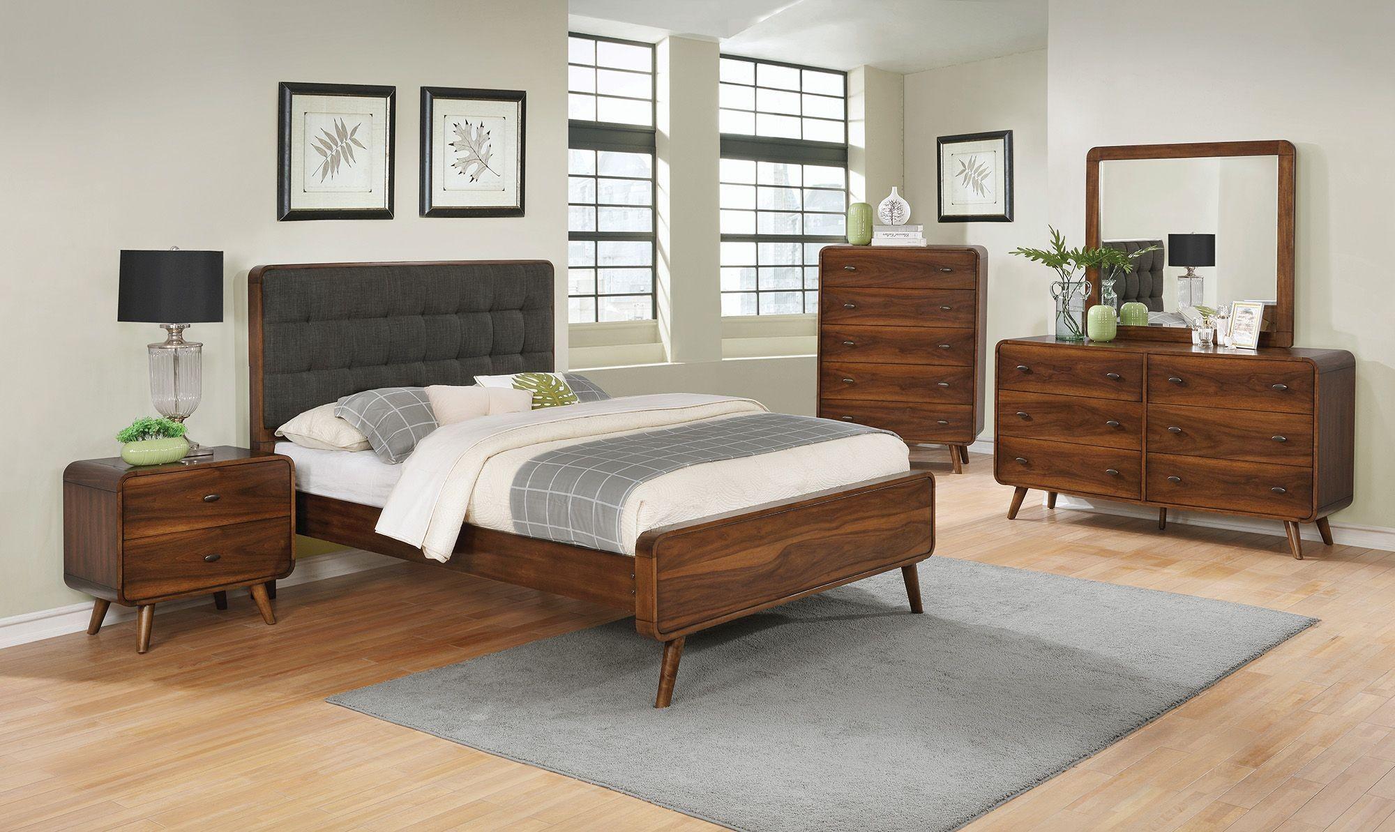 robyn dark walnut panel bedroom set from coaster coleman furniture. Black Bedroom Furniture Sets. Home Design Ideas