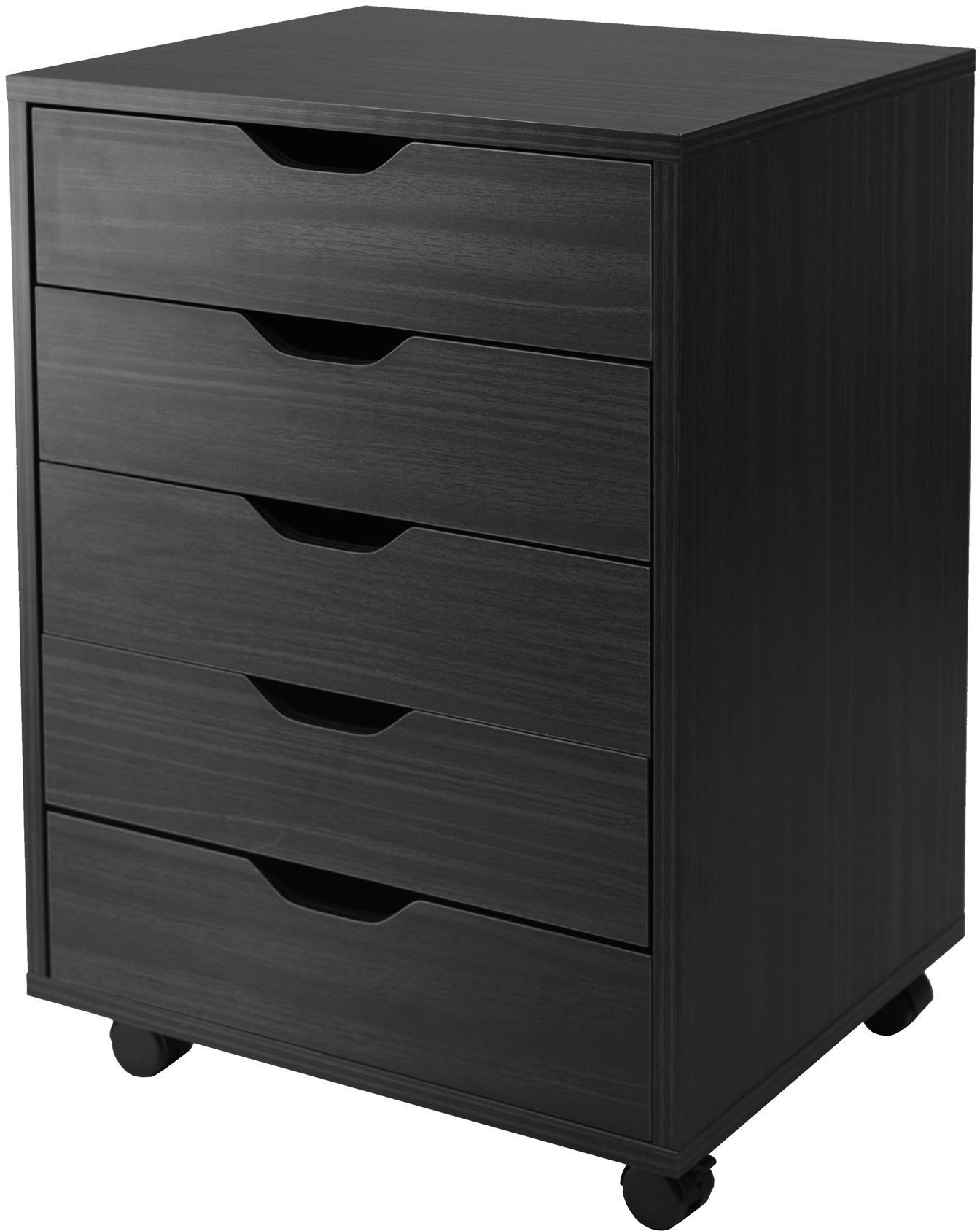 Halifax Black 5 Drawer Cabinet For Closet Office From