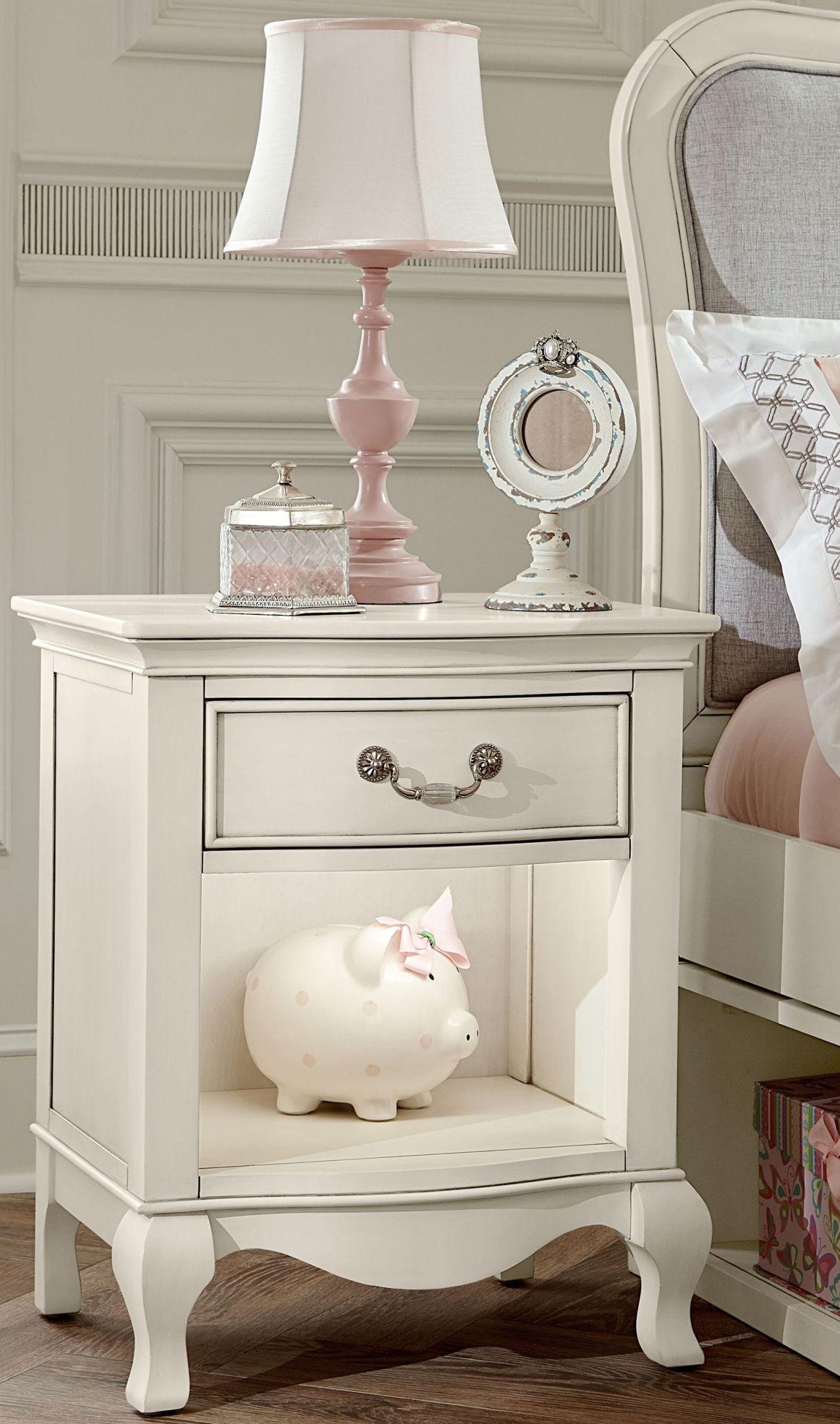 kensington antique white nightstand from ne kids coleman furniture. Black Bedroom Furniture Sets. Home Design Ideas