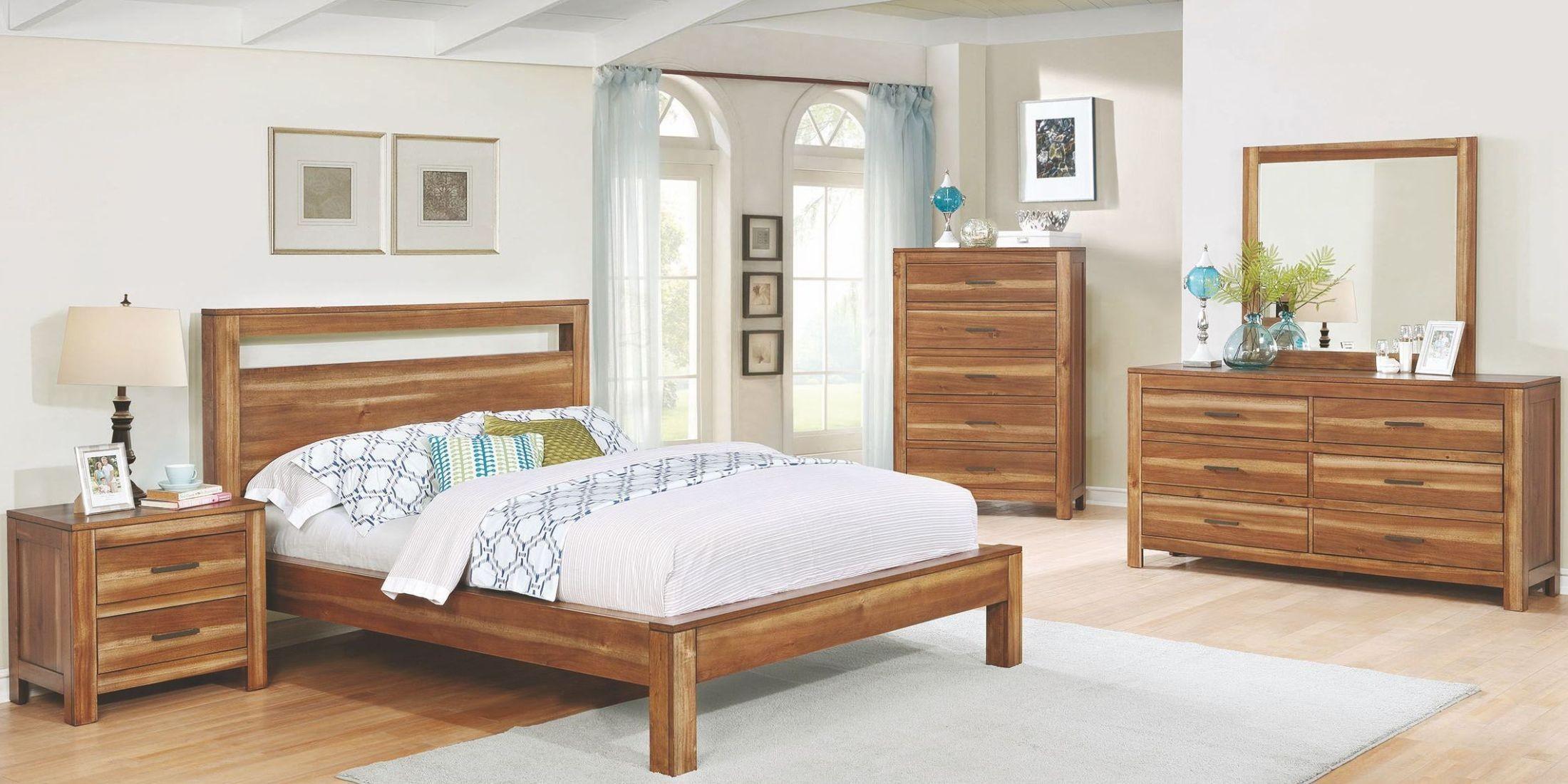 Ethan natural brown platform bedroom set from coaster