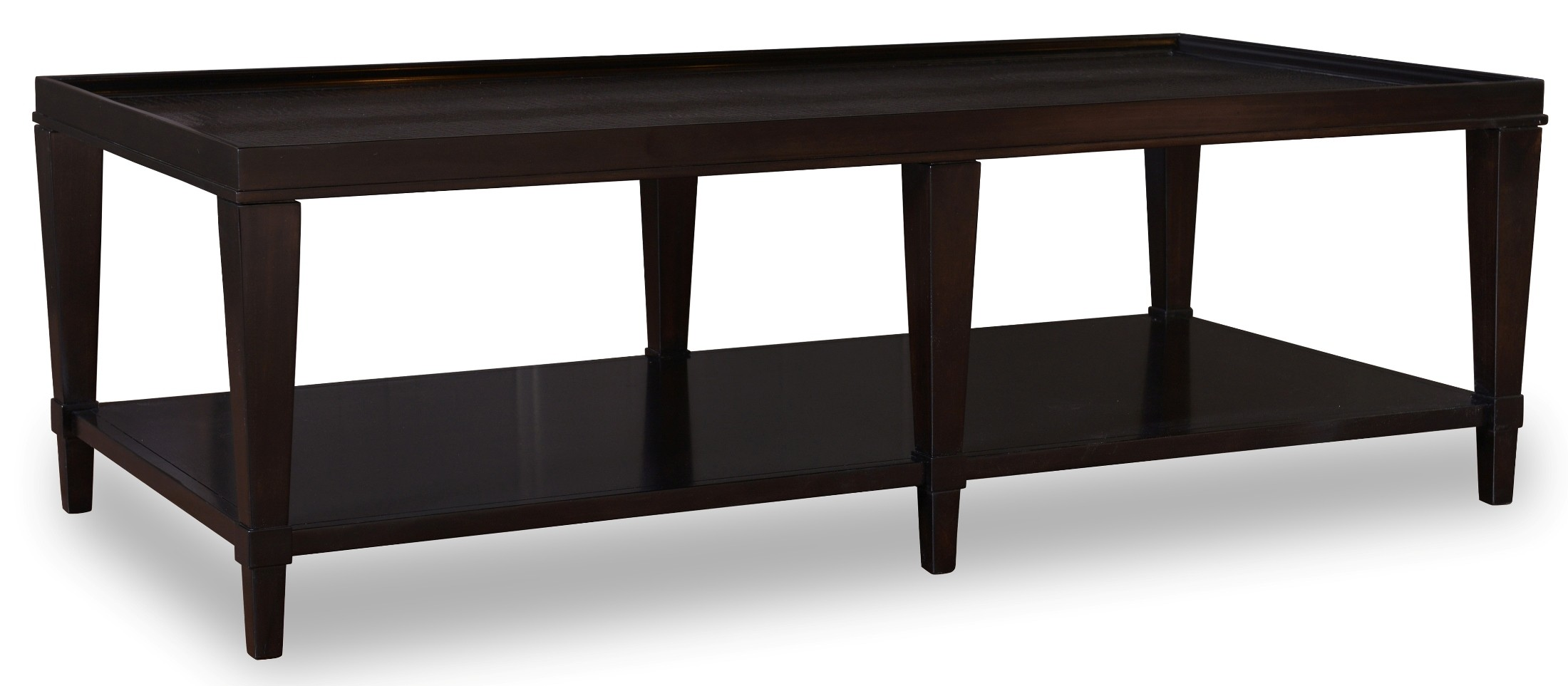 Cosmopolitan Ebony Rectangular Cocktail Table From Art 208300 1815 Coleman Furniture