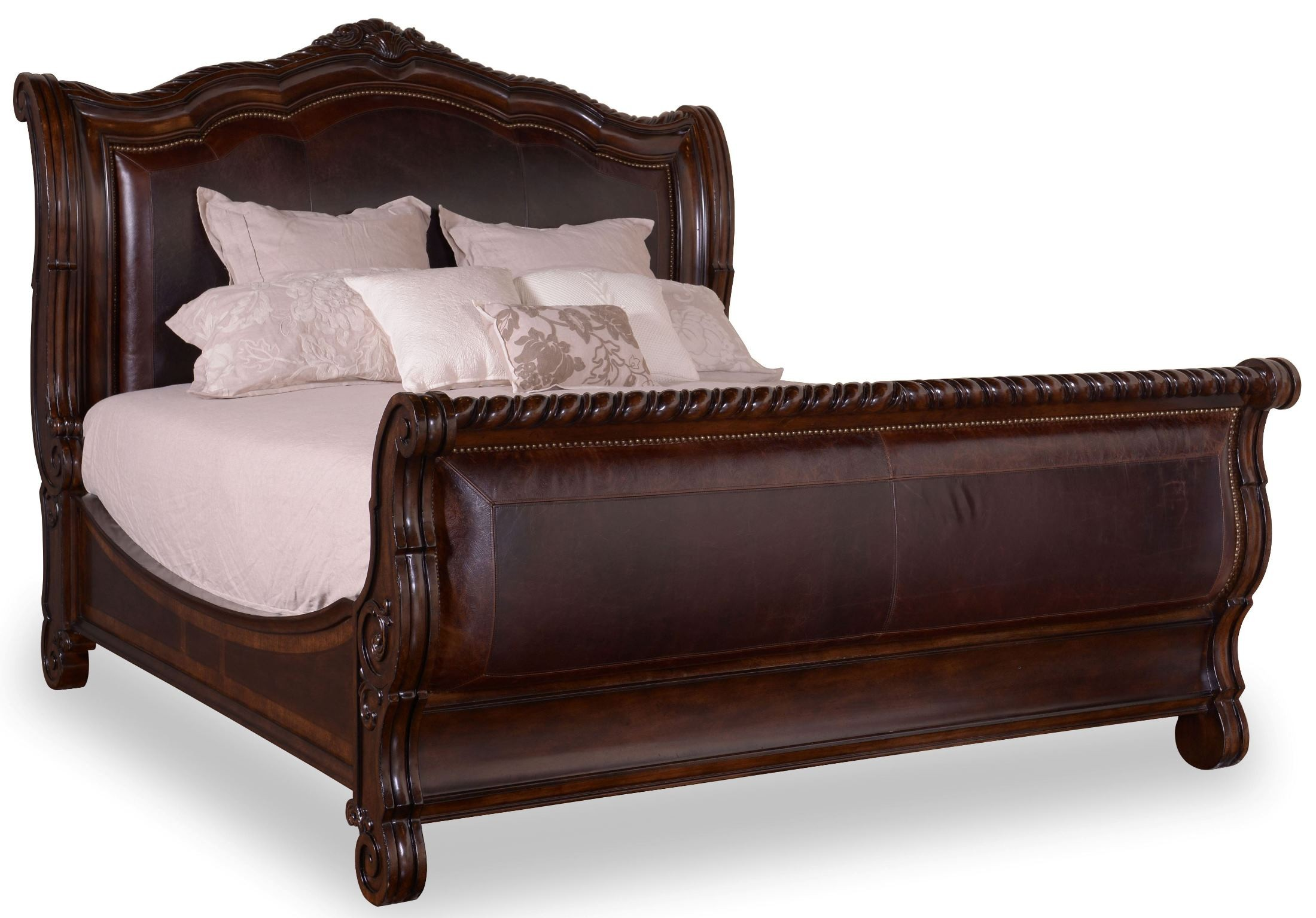 Valencia Cal King Upholstered Sleigh Bed From Art 209147