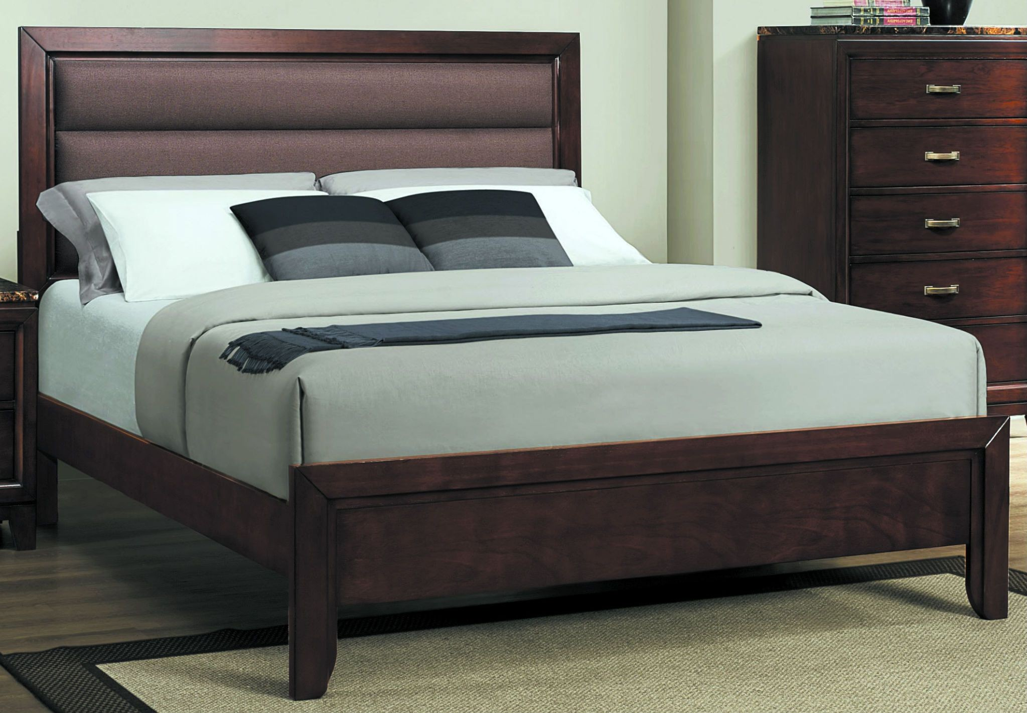 Ottowa King Size Bed Brown