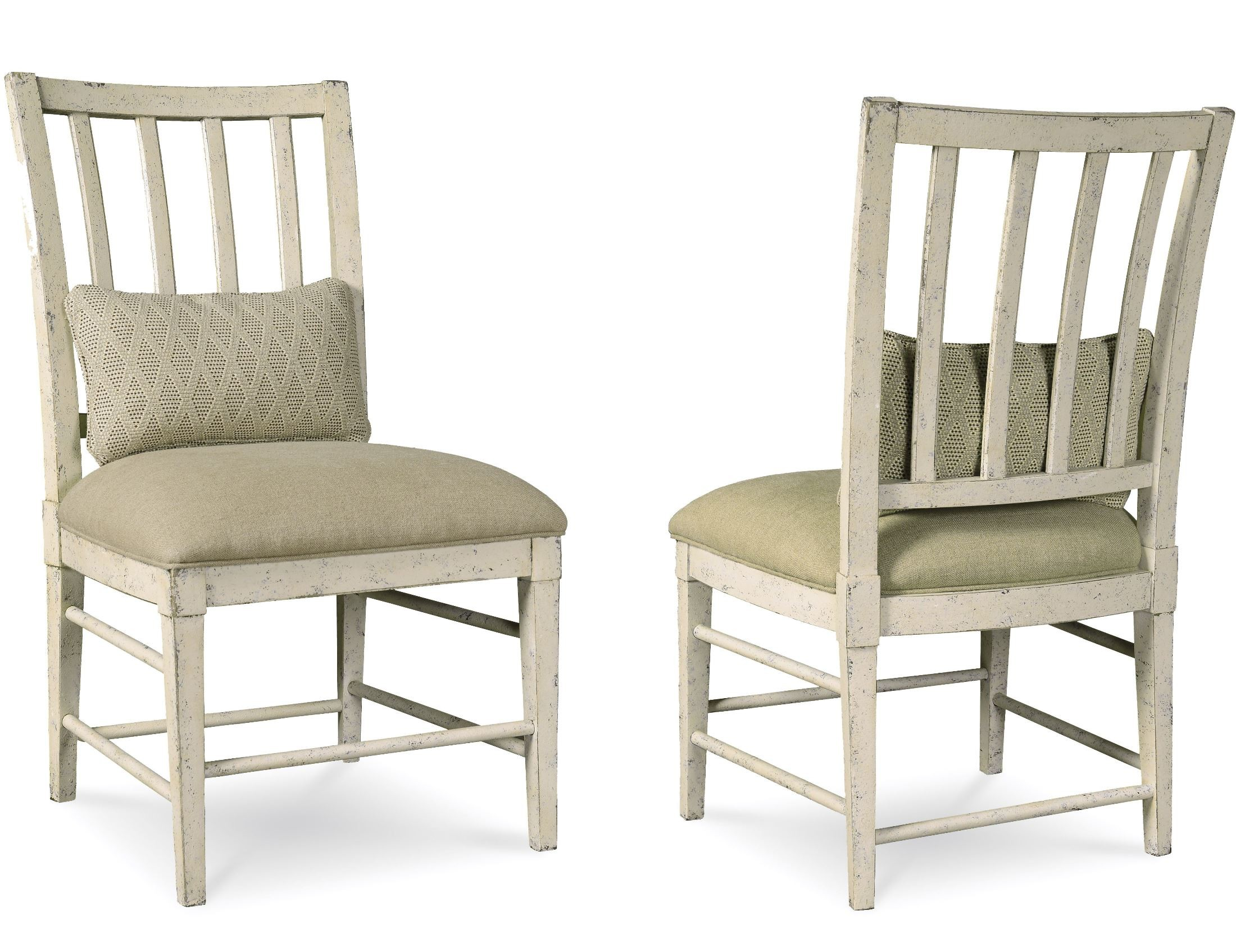 Echo park aged canvas slat back side chair set of from