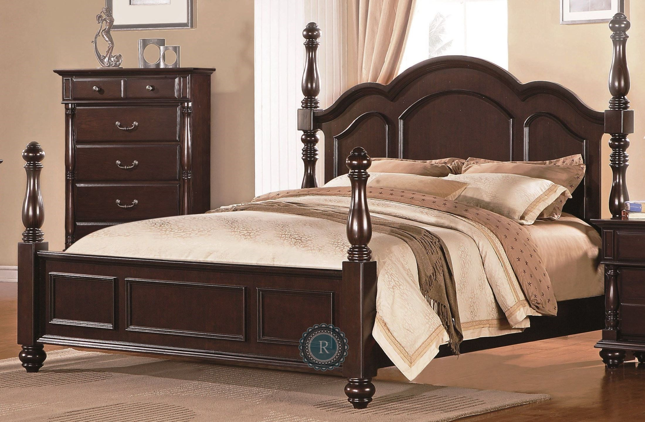 Townsford Queen Poster Bed From Homelegance 43830