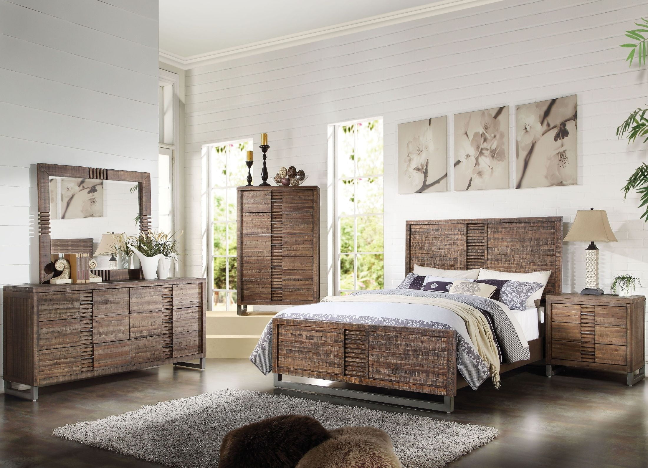 Andria Reclaimed Oak Panel Bedroom Set From Acme Coleman Furniture