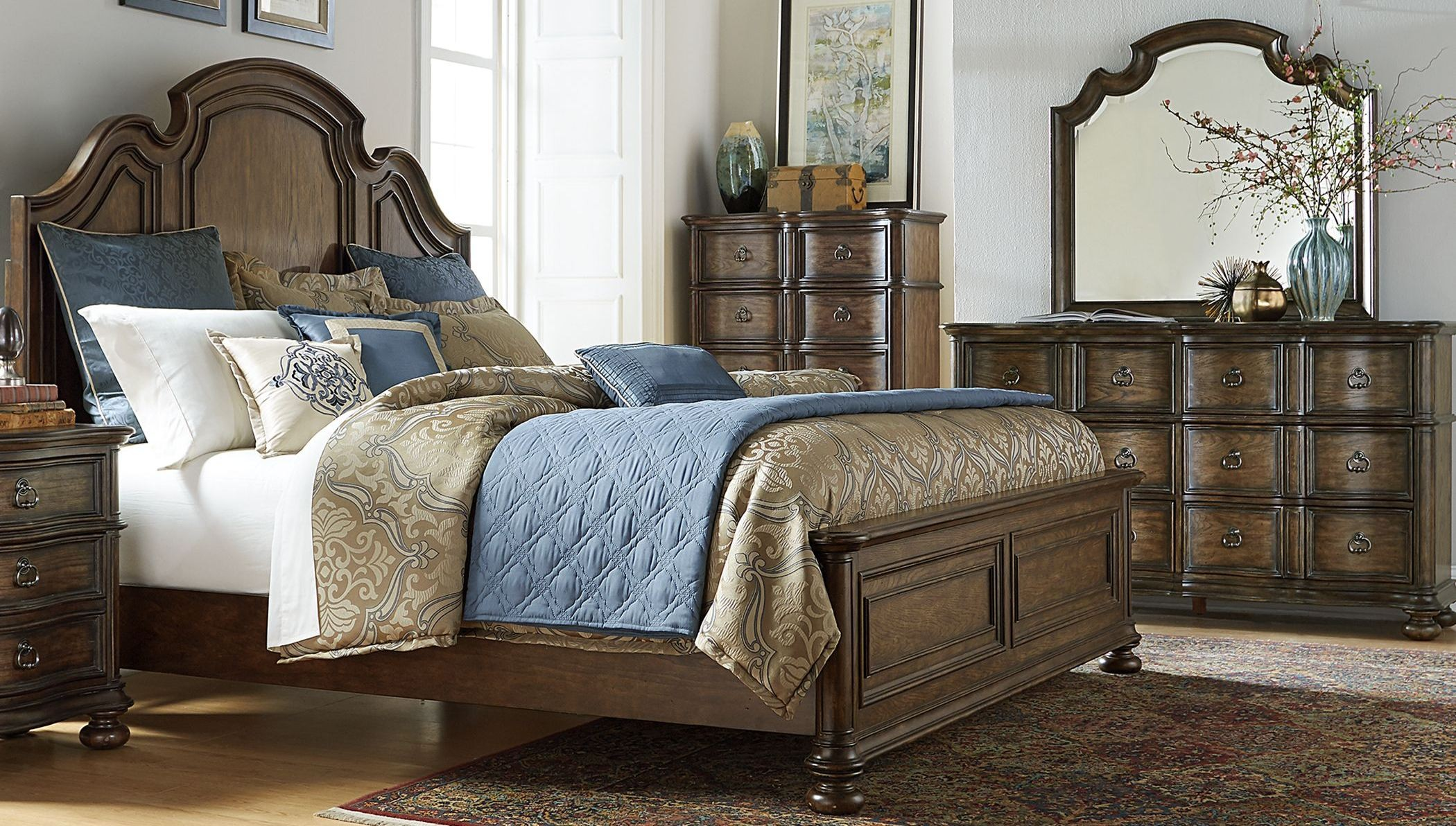 tuscan bedroom furniture tuscan valley weathered oak panel bedroom set from liberty 13619