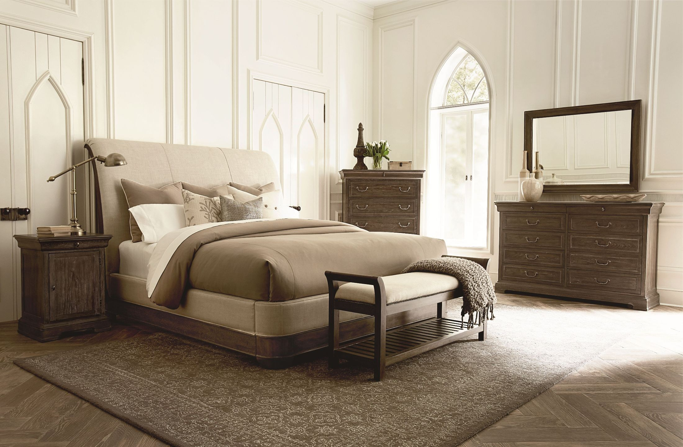 upholstered bedroom sets st germain upholstered sleigh bedroom set from 13698