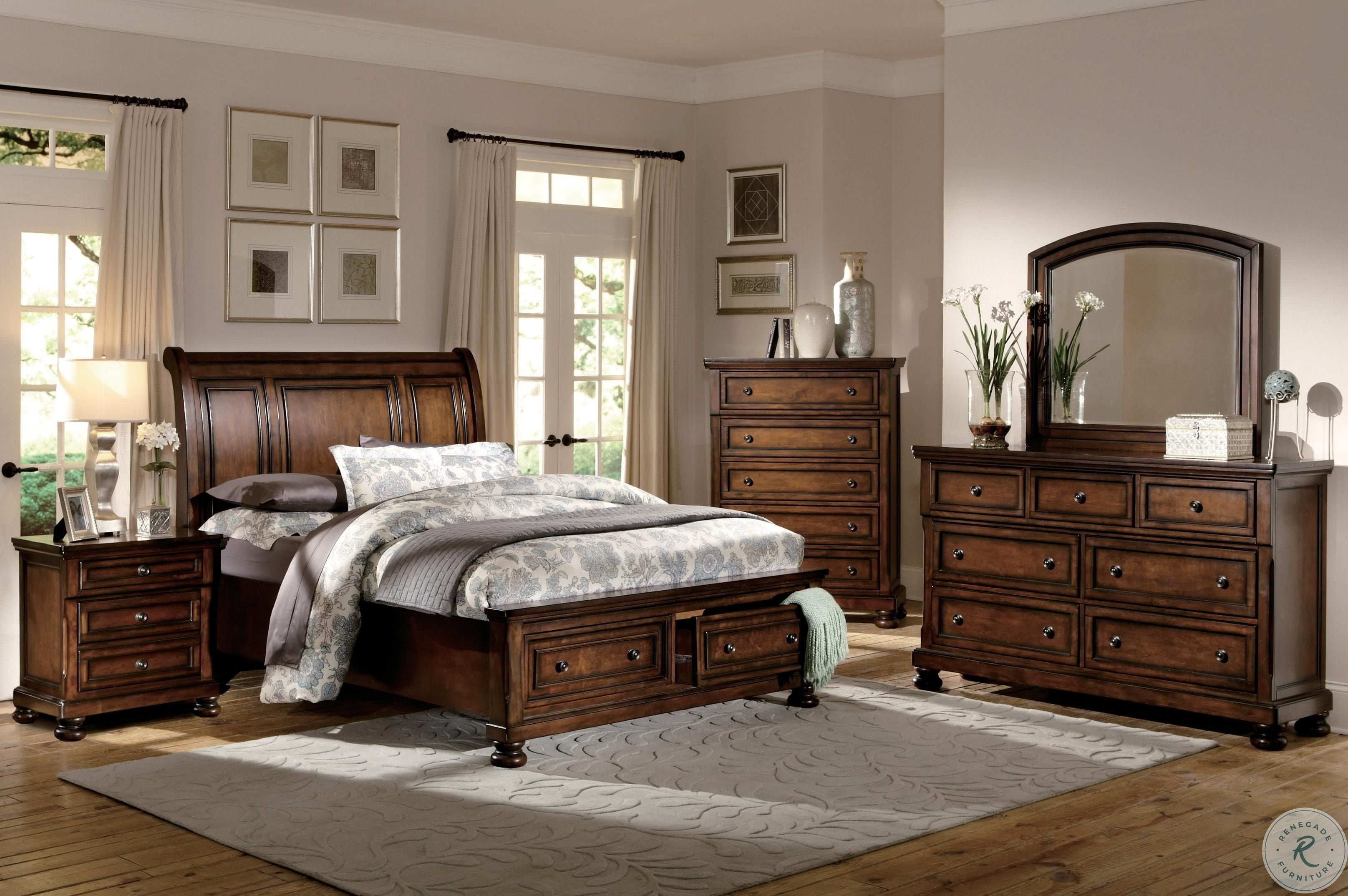Cumberland Sleigh Storage Bedroom Set
