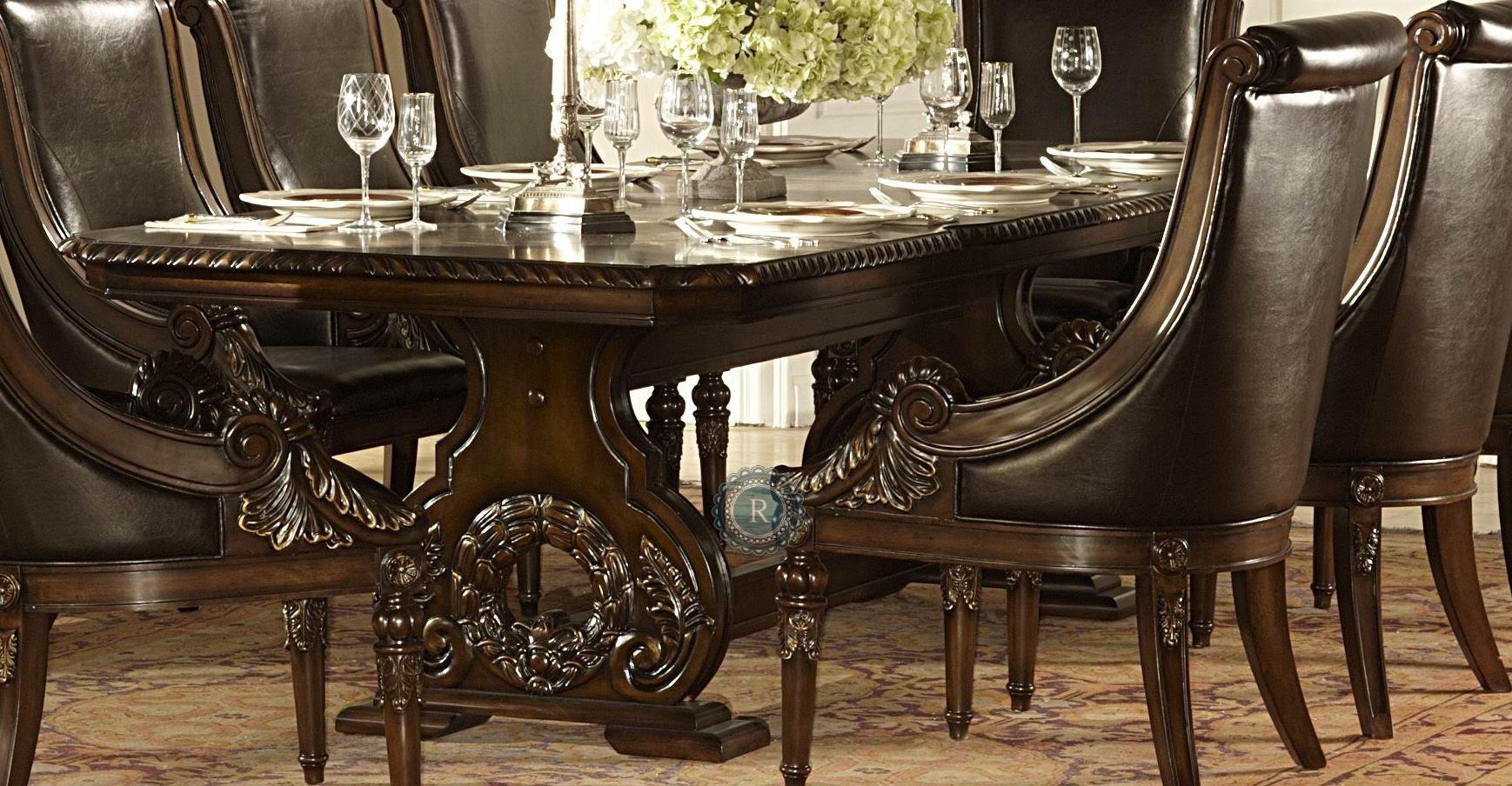 orleans trestle dining table from homelegance 2168 108 coleman furniture. Black Bedroom Furniture Sets. Home Design Ideas