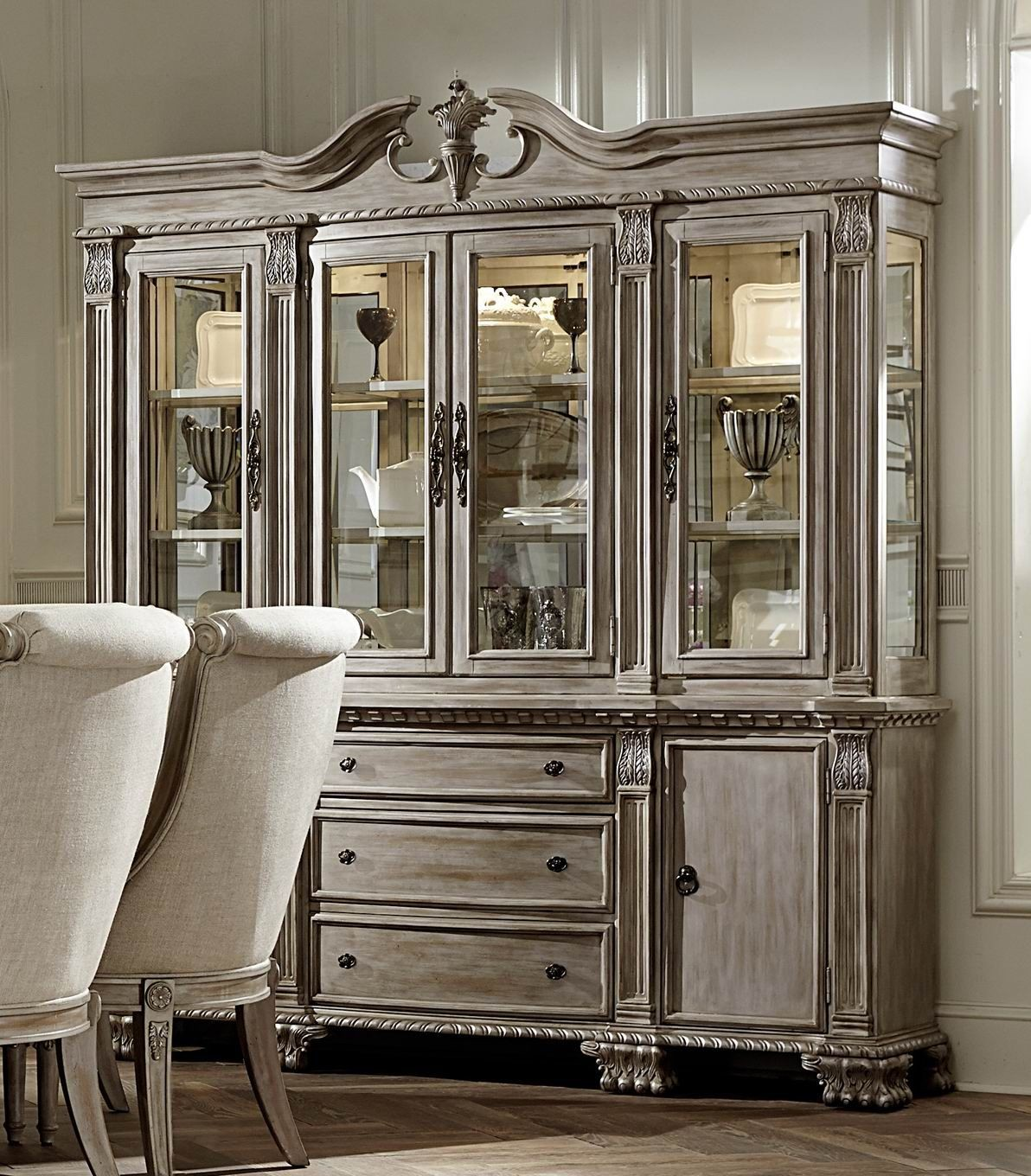 White Wash Formal Dining Room Furniture