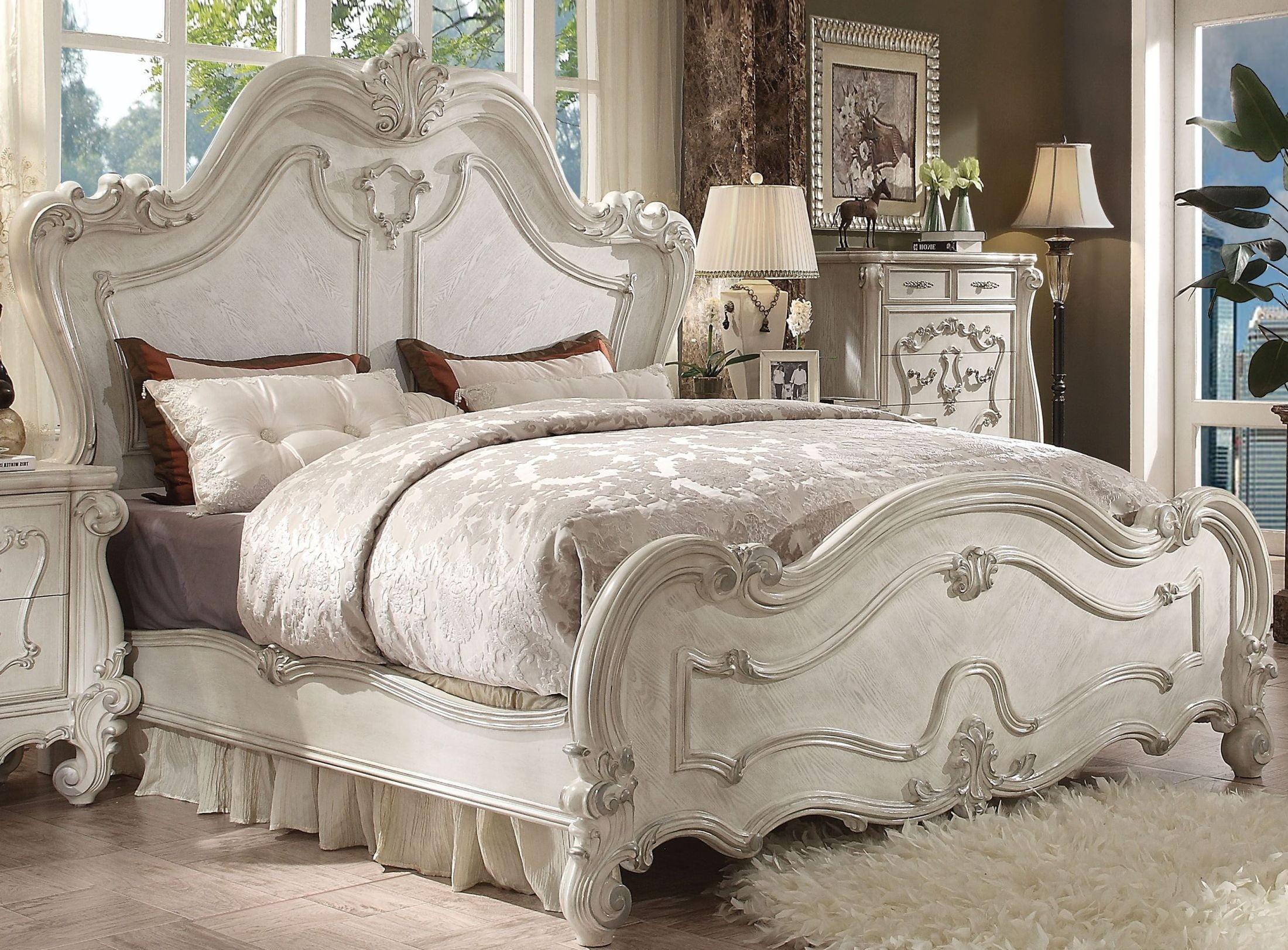 Versailles Bone White Panel Bedroom Set from Acme | Coleman Furniture