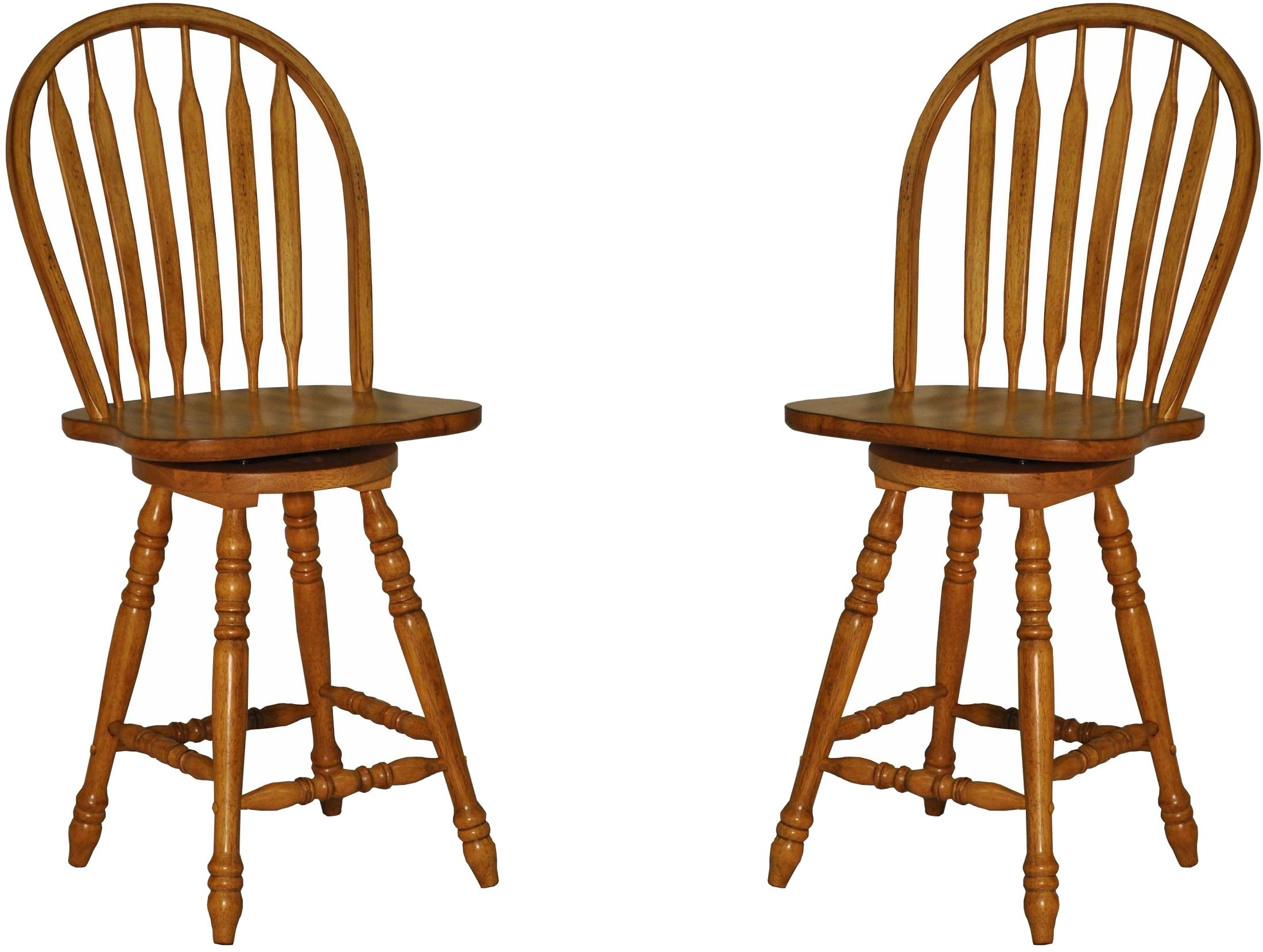 Rustic Bow Back Counter Stool Set Of 2 From Eci Furniture