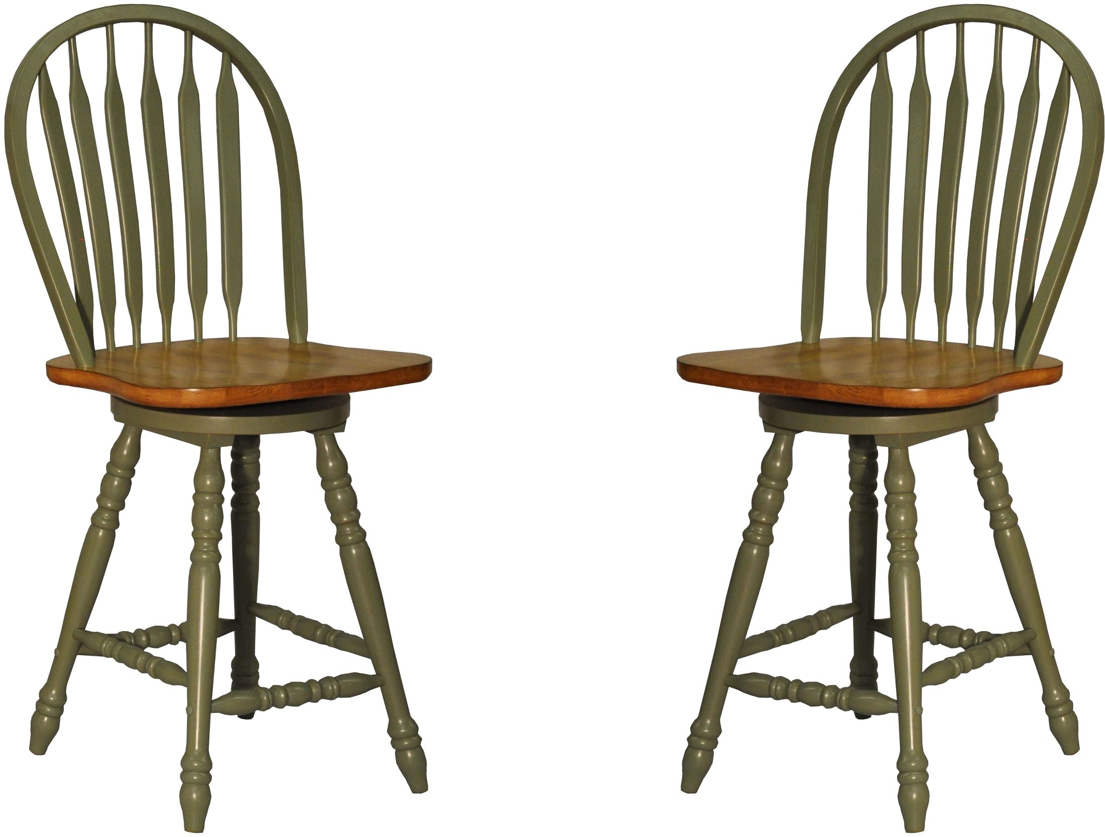 Green Large Bow Back Counter Stool Set Of 2 From Eci