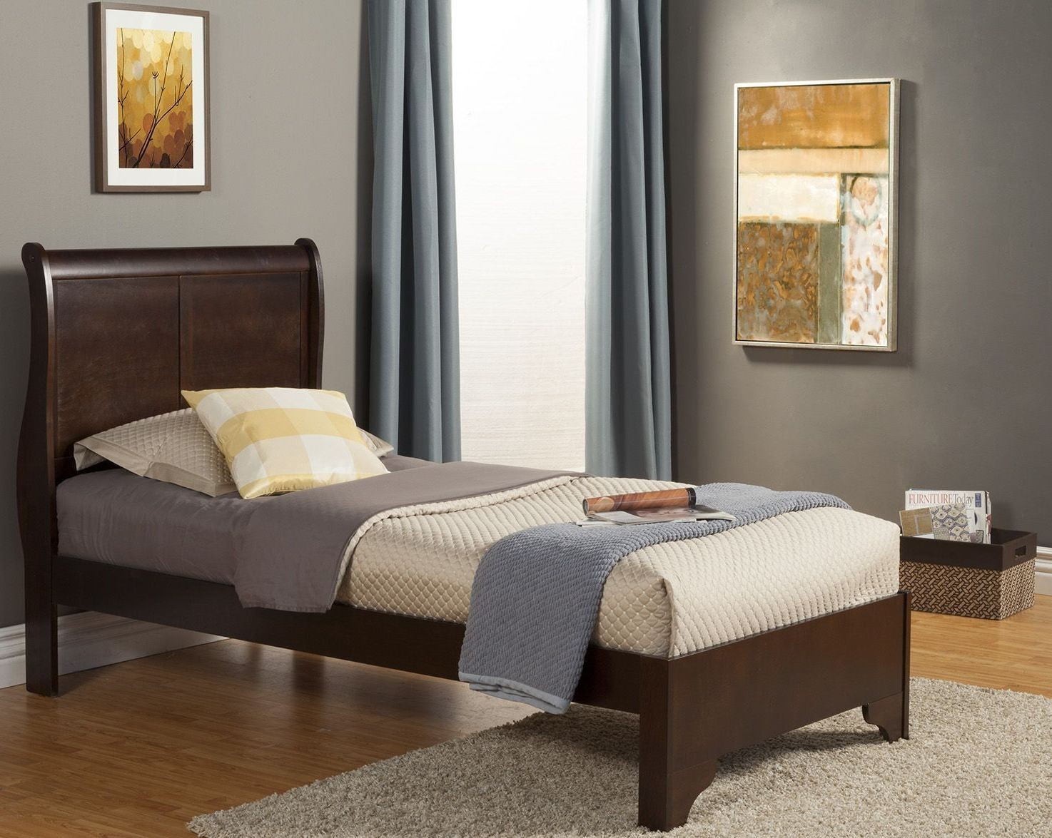 west haven cappuccino full sleigh bed from alpine alpine furniture 2200q west haven queen low profile sleigh