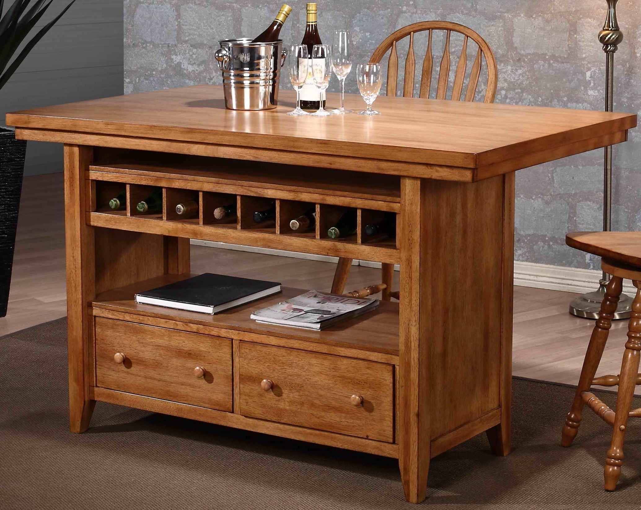 Four Seasons Rustic Oak Kitchen Island From Eci Furniture Coleman Furniture