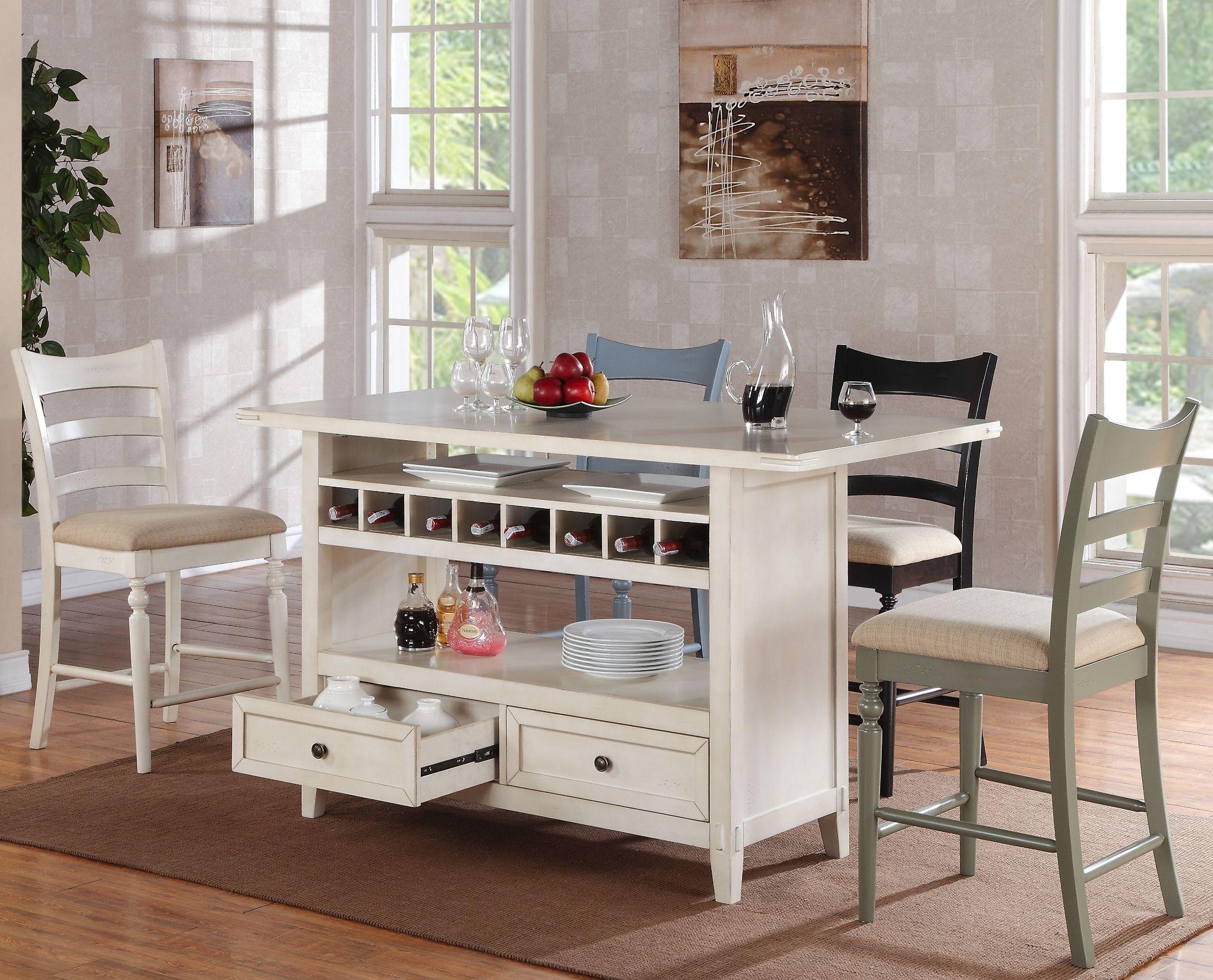 terrific antique white kitchen island   Four Seasons Antique White Kitchen Island from ECI ...