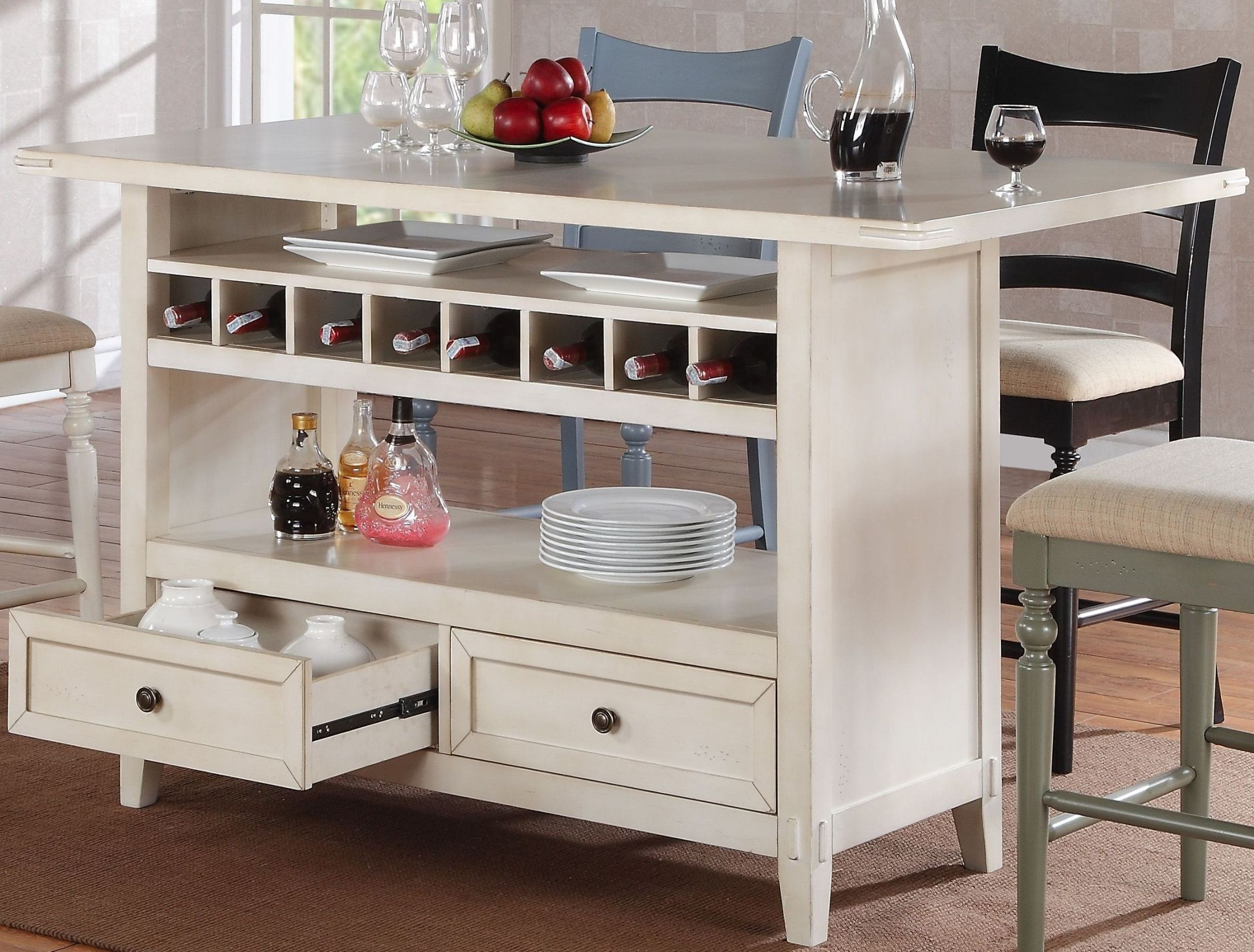 Four Seasons Antique White Kitchen Island From Eci Furniture Coleman Furniture