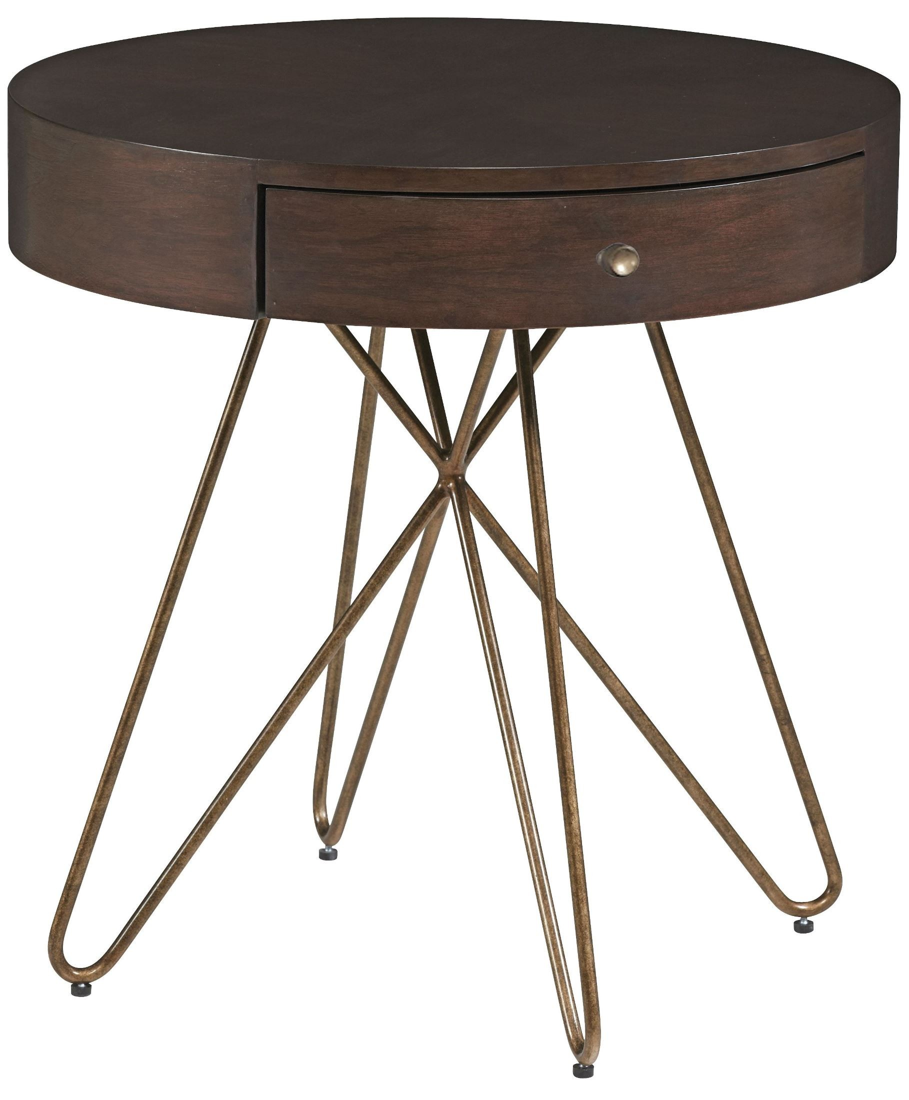 Epicenters Silver Lake 1 Drawer Round End Table From ART