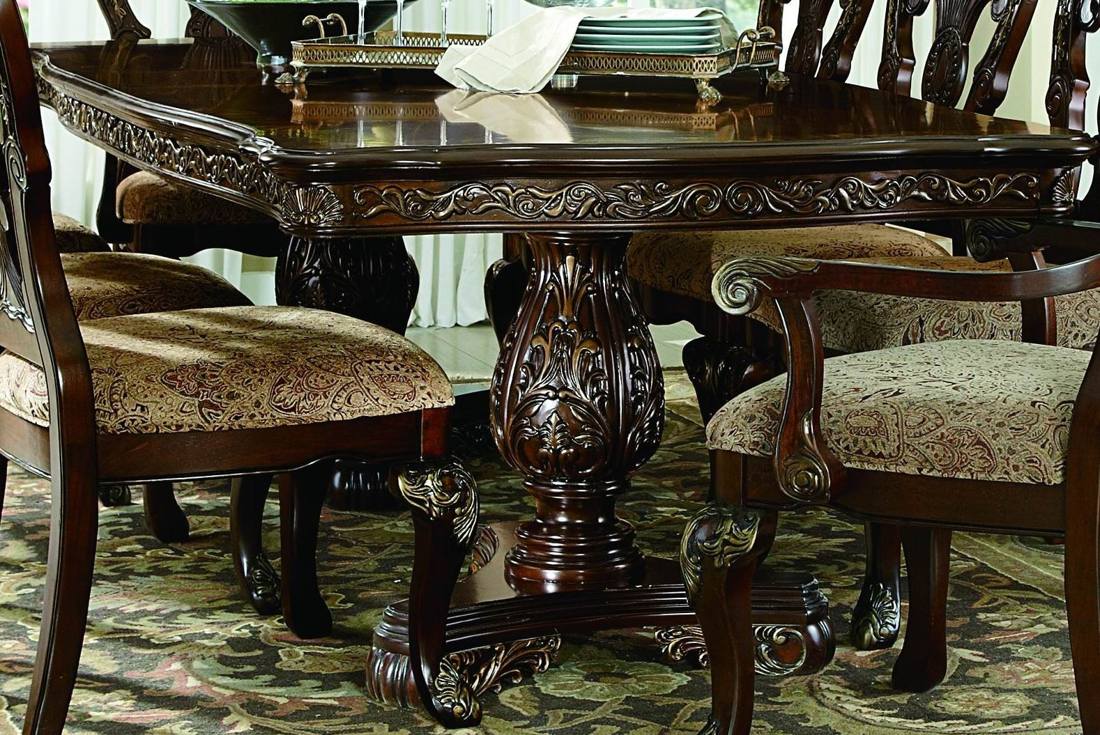 deryn park cherry extendable leg dining room set from homelegance 2243 114 coleman furniture. Black Bedroom Furniture Sets. Home Design Ideas