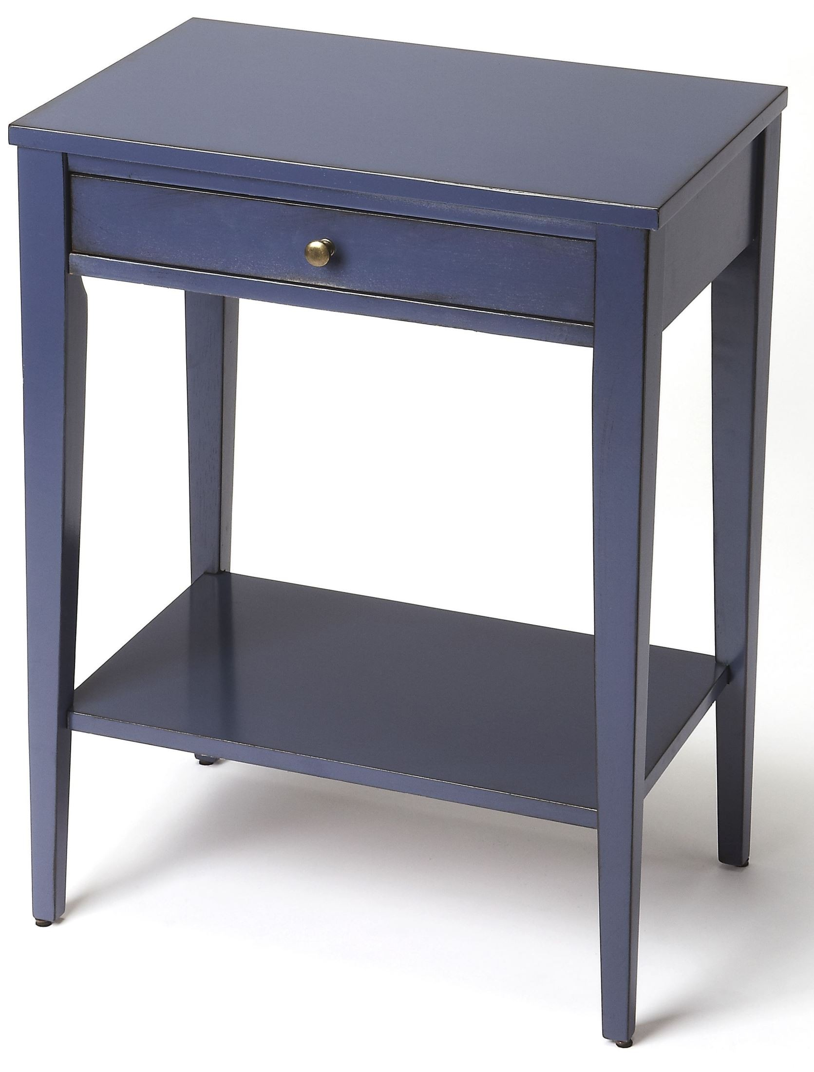 Cobble Hill Navy Blue Console End Table From Butler Coleman Furniture