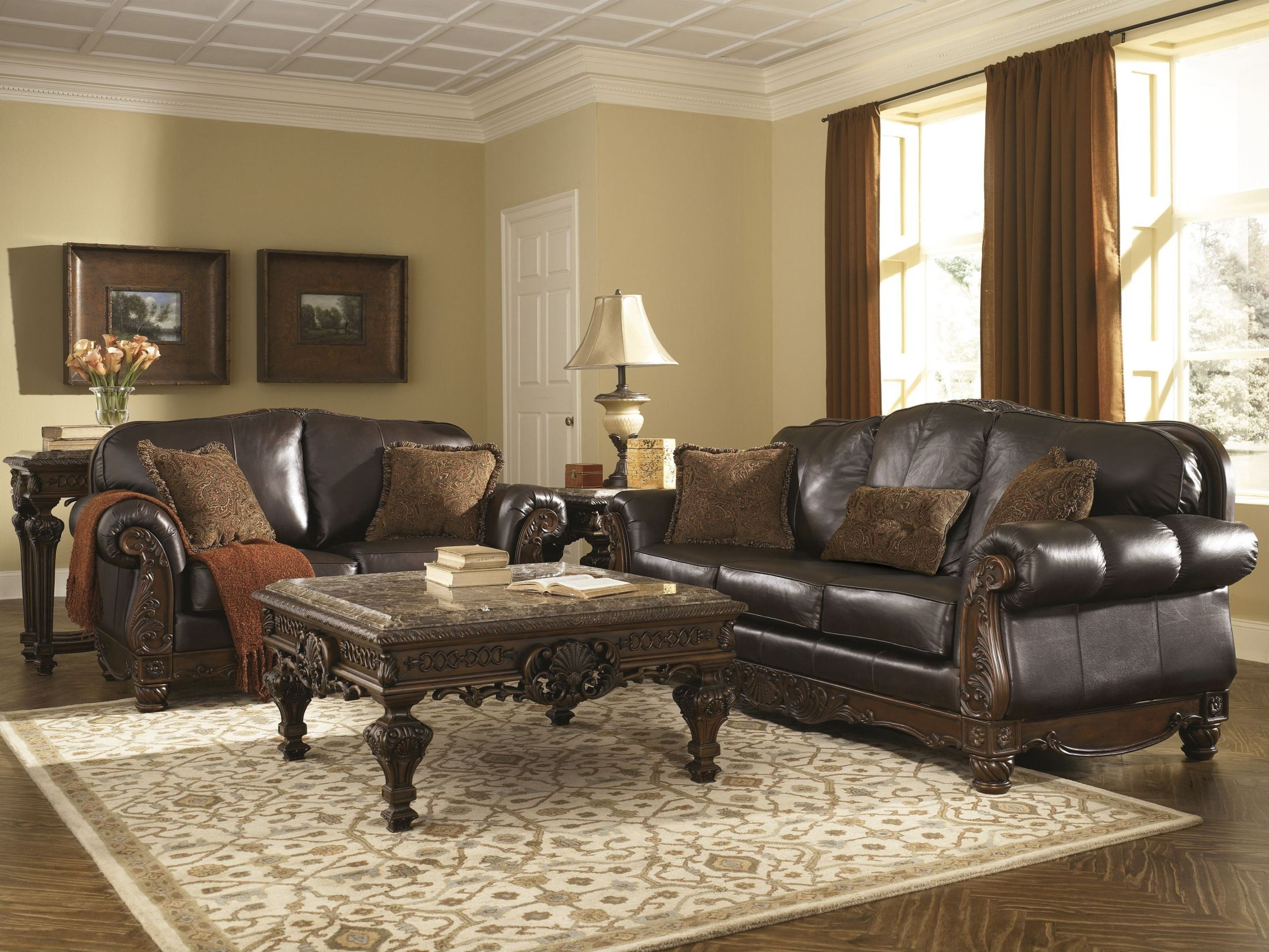 North Shore Dark Brown Living Room Set From Ashley 22603