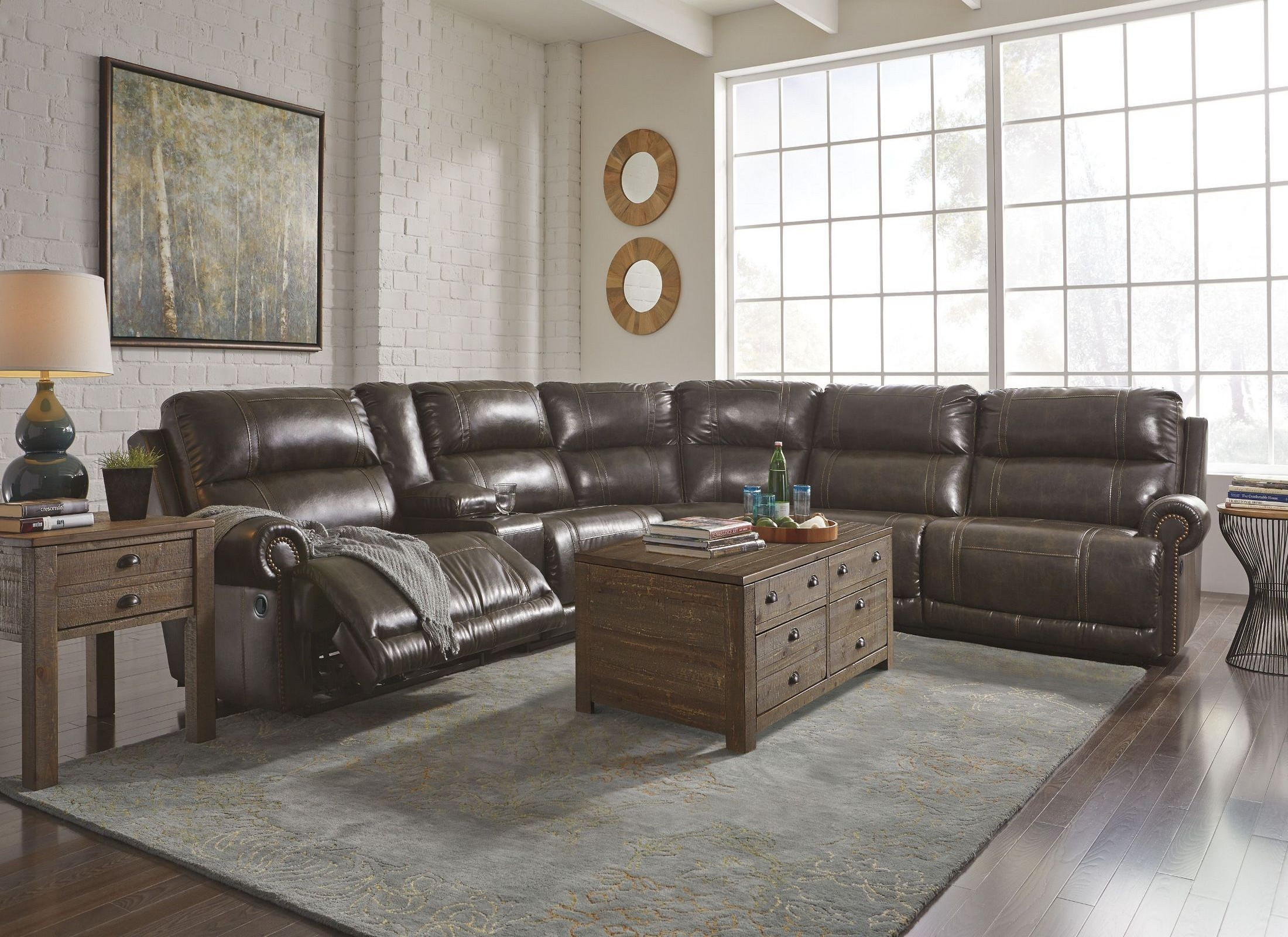 2298100 : durablend antique sectional - Sectionals, Sofas & Couches