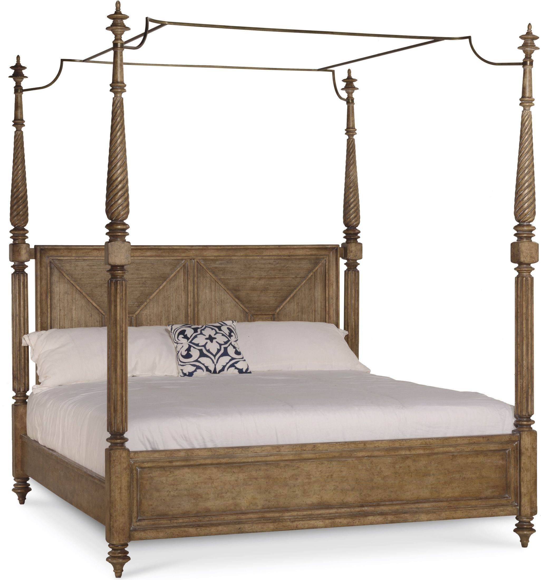 pavilion brown queen poster bed with canopy and posts from