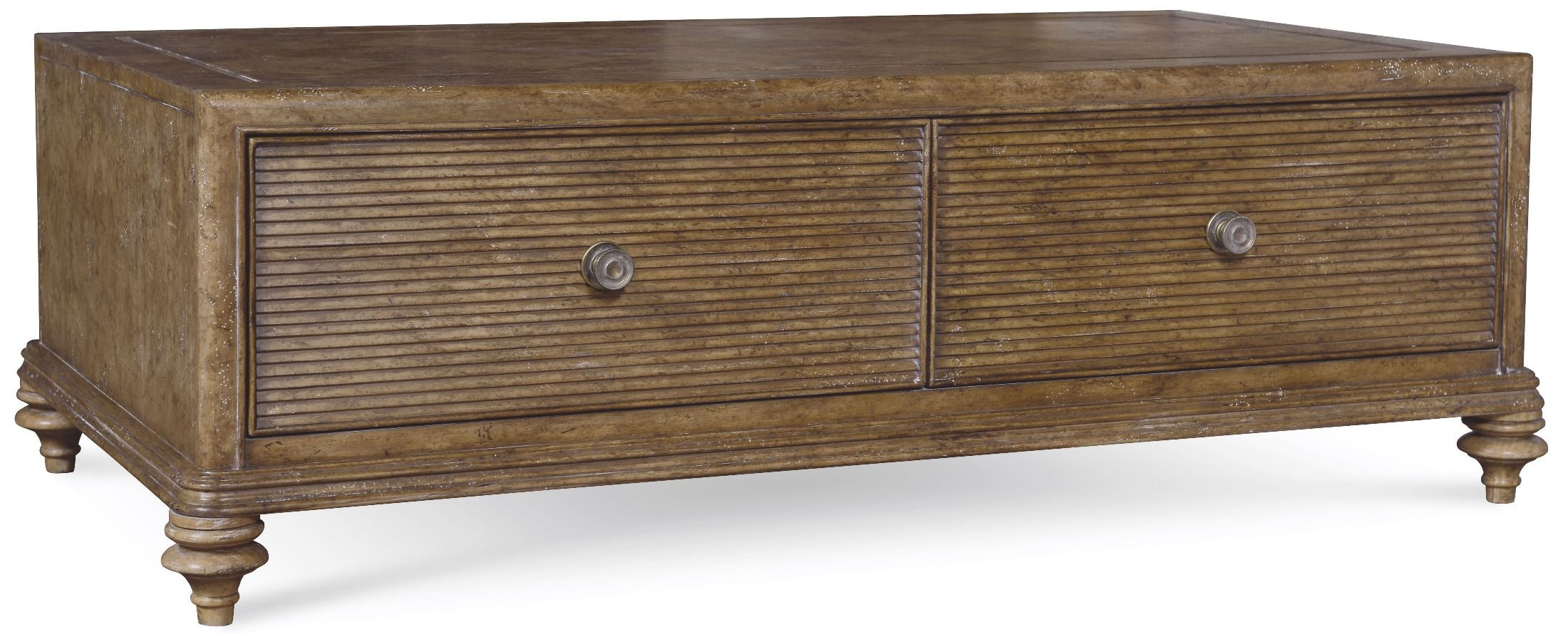 Pavilion rustic pine storage cocktail table from art for Pine coffee table with storage