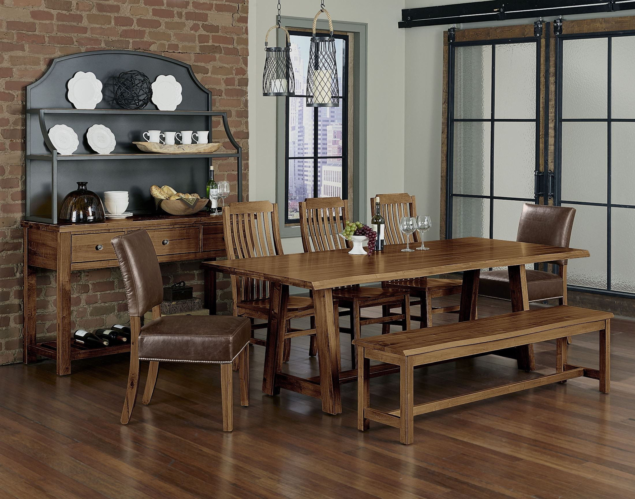 Simply Dining Antique Amish 90 Quot Trestle Dining Room Set