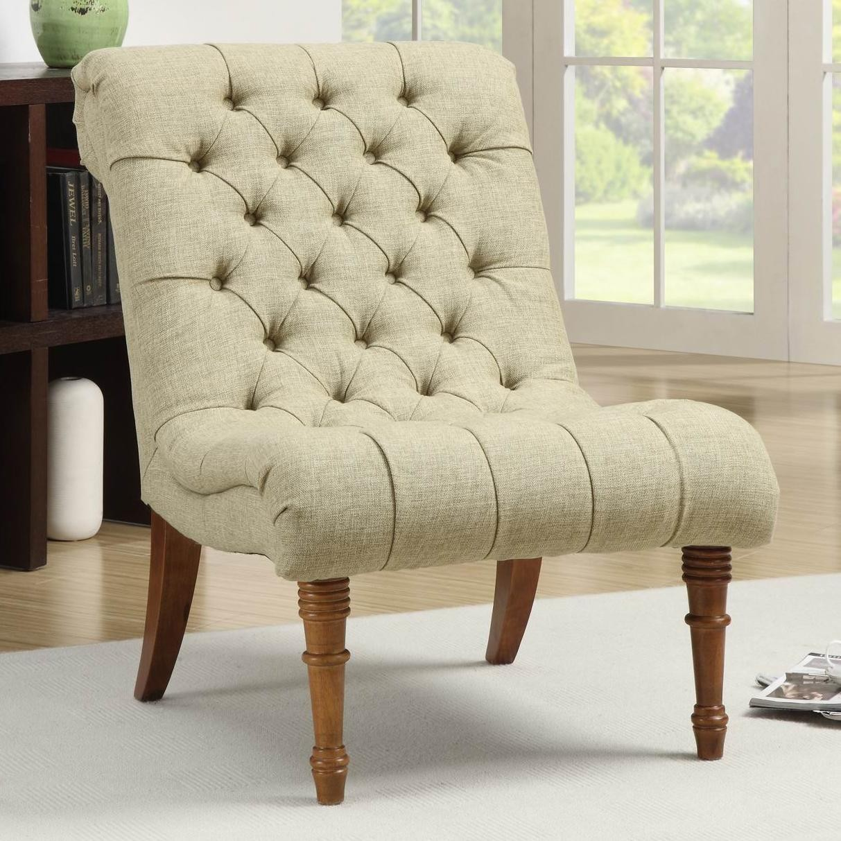 902218 tufted accent chair from coaster 902218 coleman Tufted accent chair