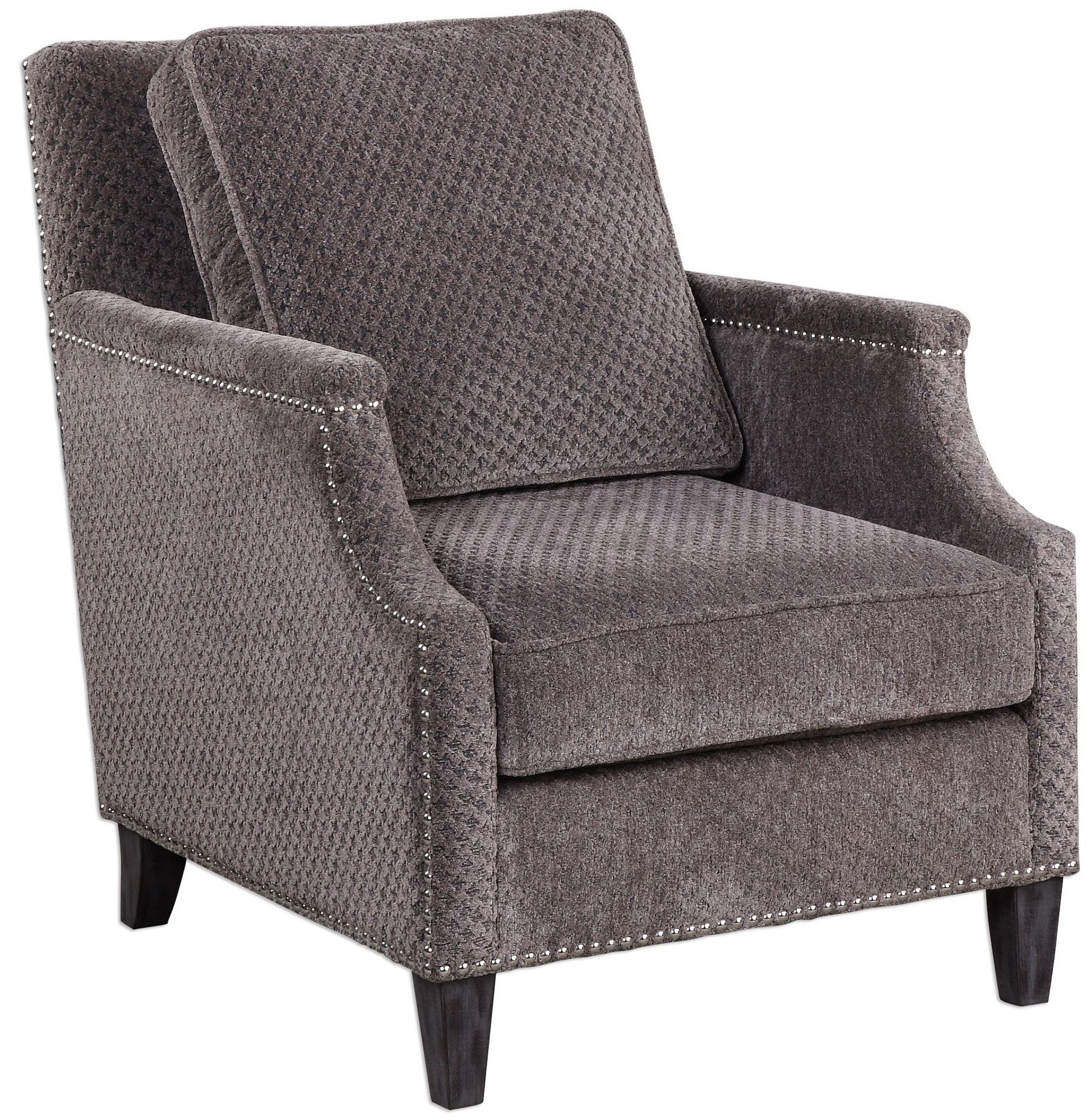 Dallen pewter gray accent chair from uttermost