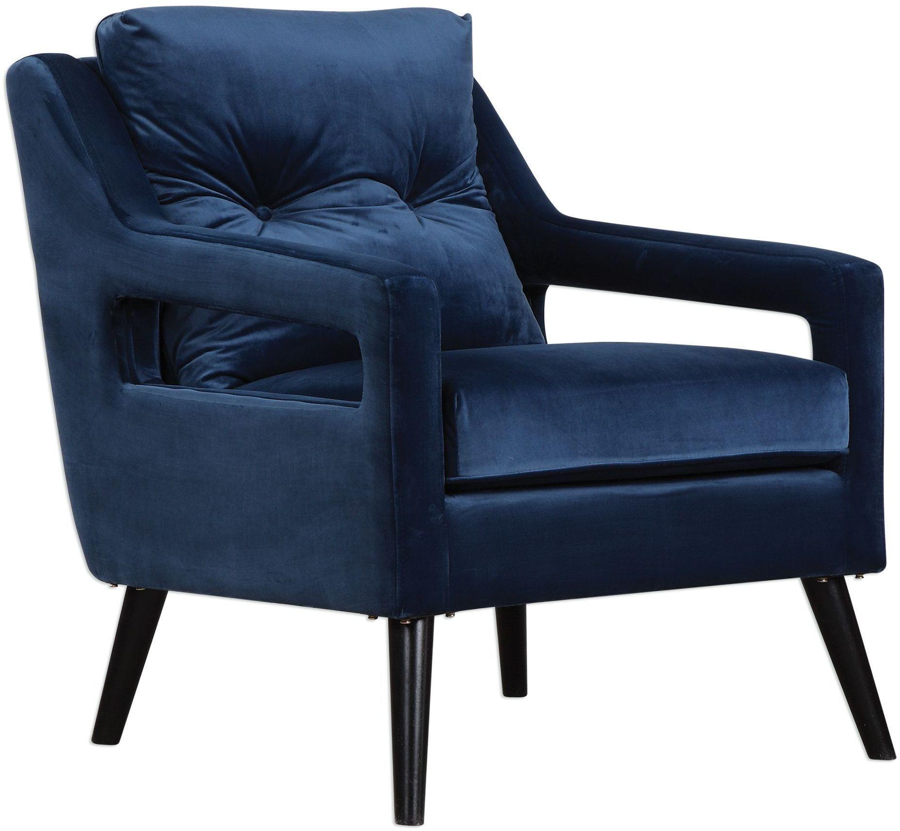 O Brien Blue Velvet Armchair From Uttermost Coleman