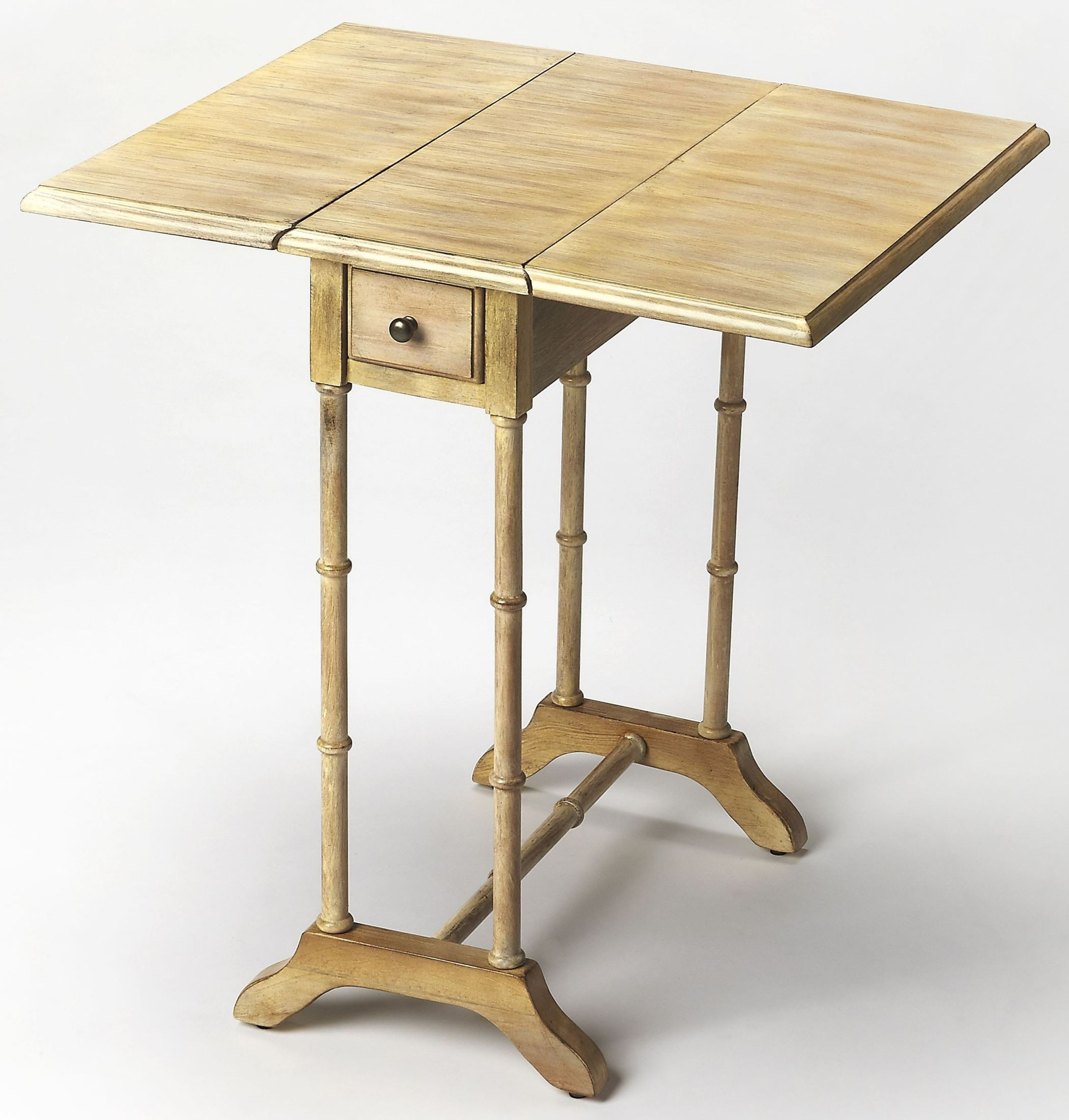 Driftwood End Table: Darrow Driftwood Drop Leaf End Table, 2334247, Butler