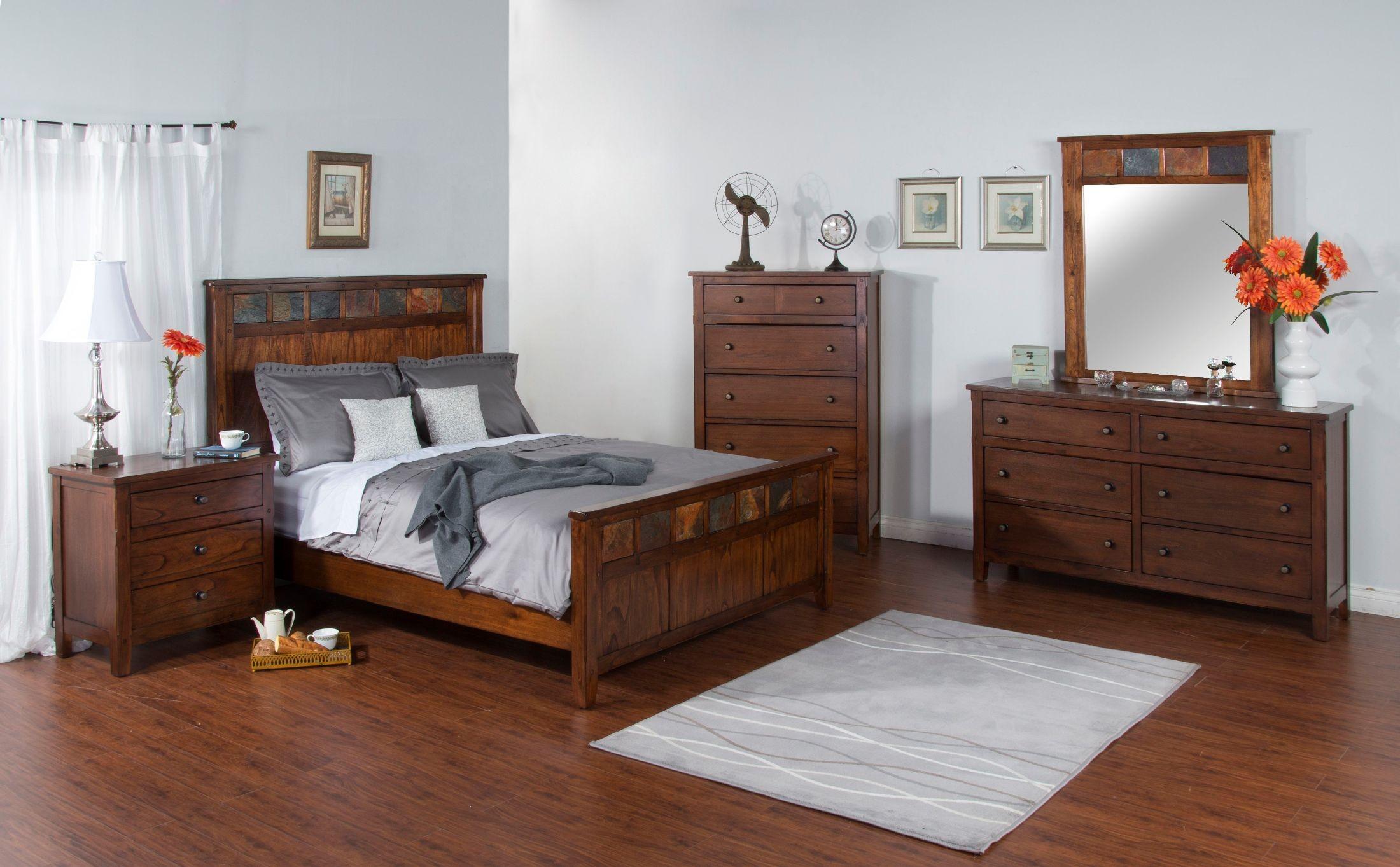 Santa Fe Dark Chocolate Petite Panel Bedroom Set