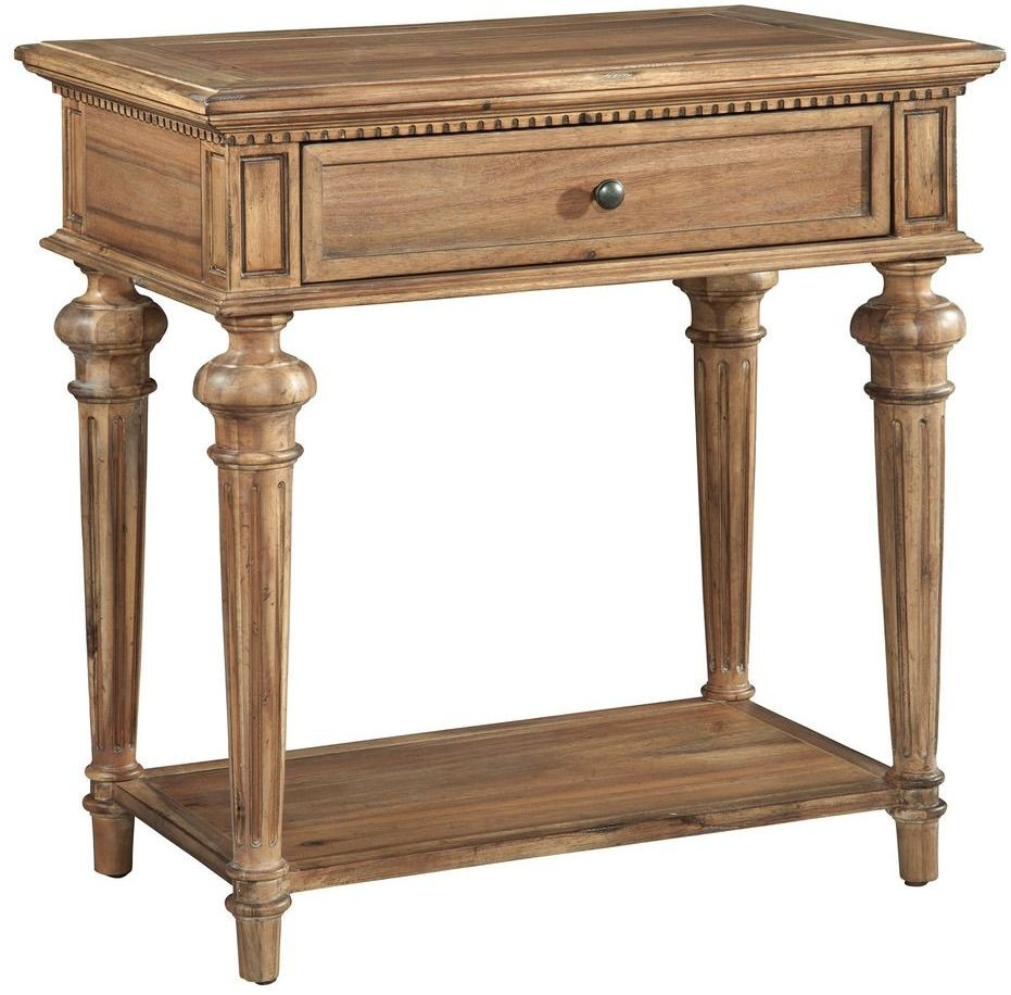 Wellington Hall Brown Single Drawer Nightstand From Hekman Furniture Coleman Furniture