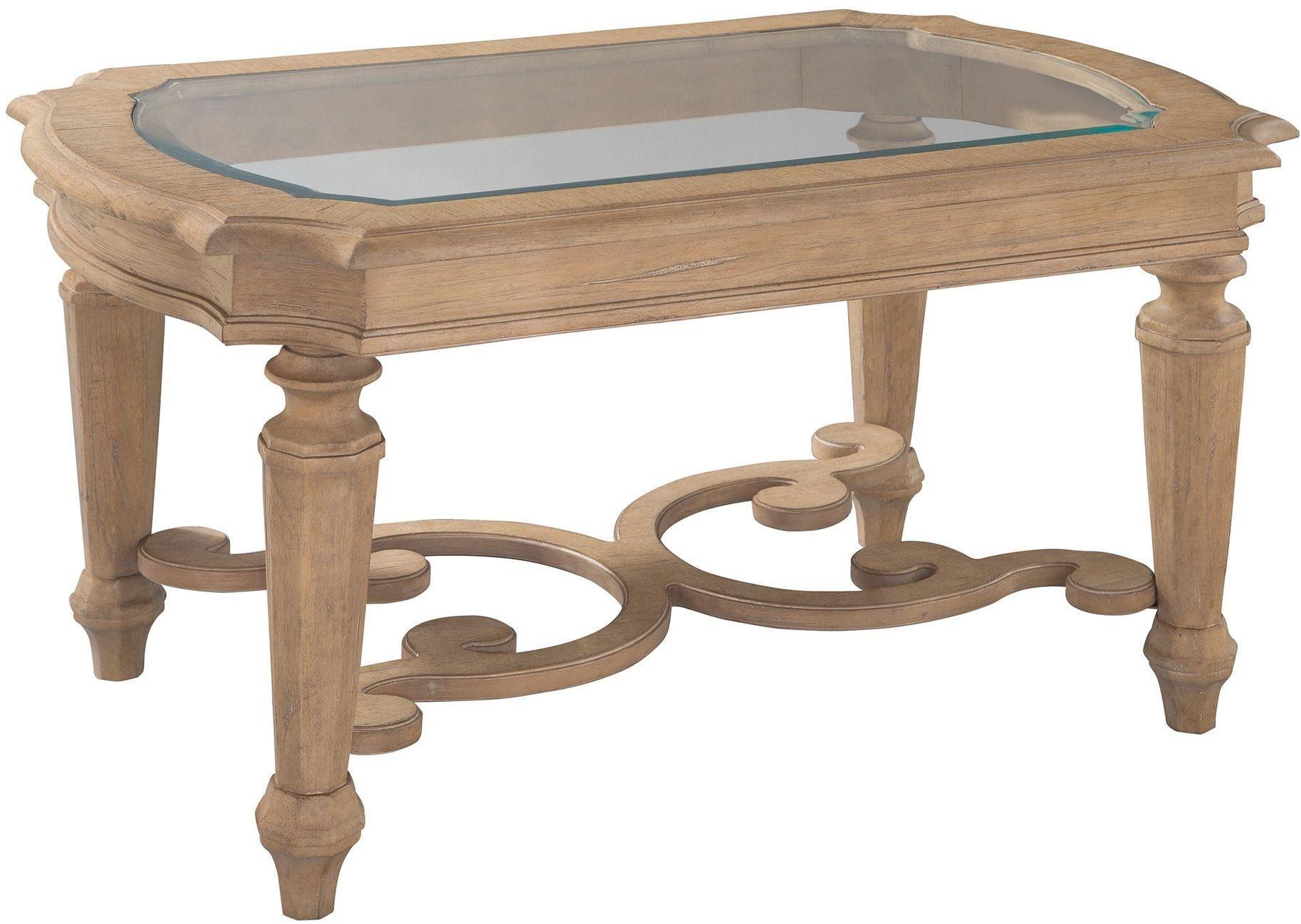 Grand Vista Brown Rectangular Glass Top Coffee Table From Hekman Furniture Coleman Furniture