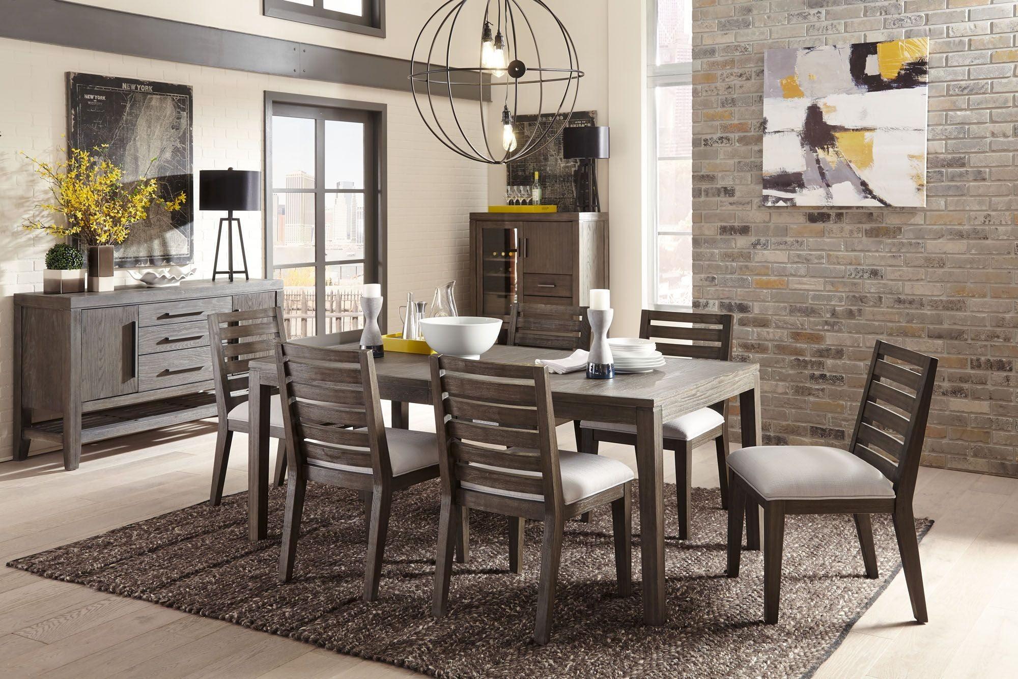Bravo Platinum Oak Extendable Dining Room Set From Casana