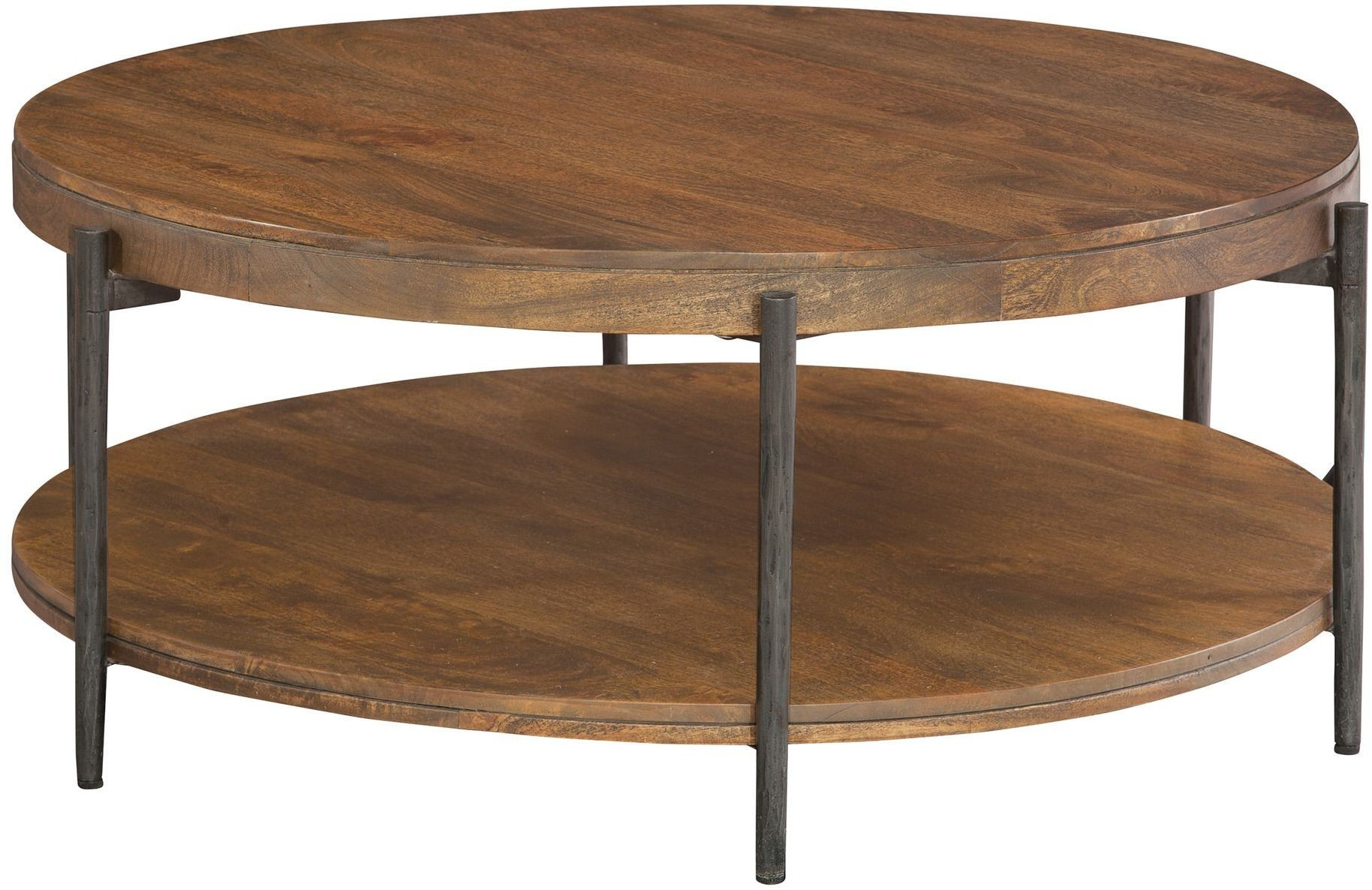 bedford park brown and gray round coffee table from hekman furniture coleman furniture. Black Bedroom Furniture Sets. Home Design Ideas