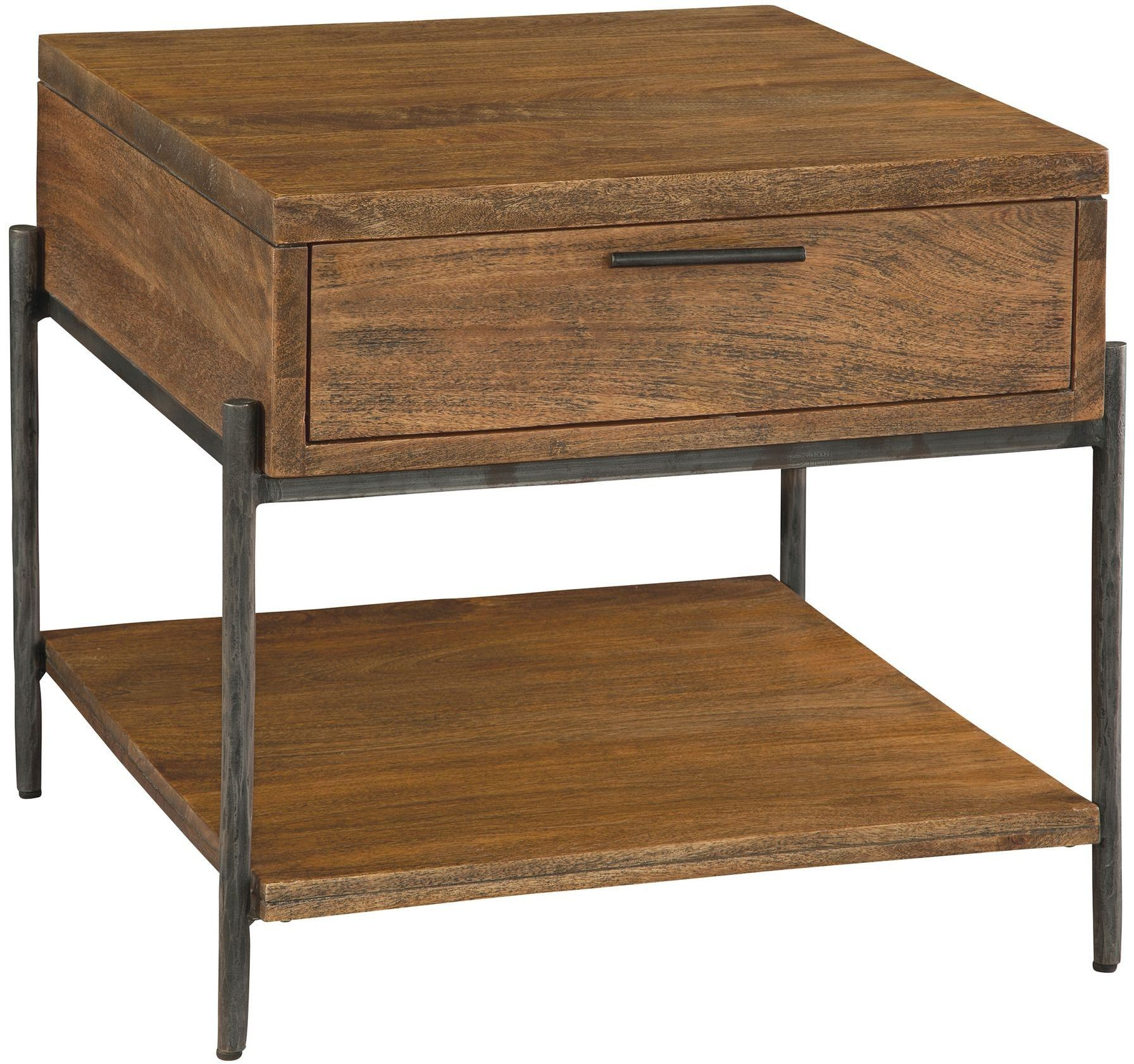 Bedford Park Brown And Gray Drawer End Table From Hekman