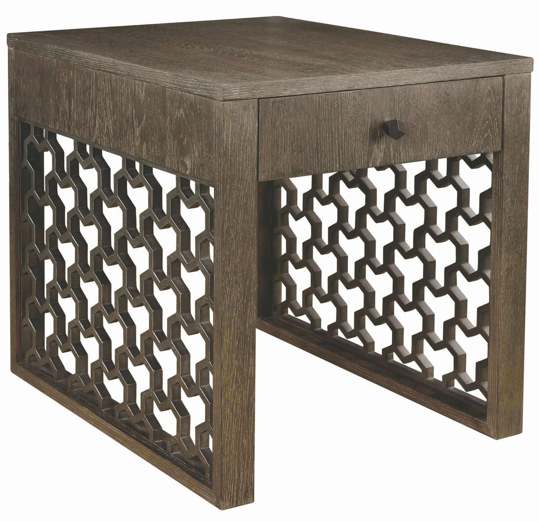 Geode warm kona tanzanite end table from art coleman for Geode side table